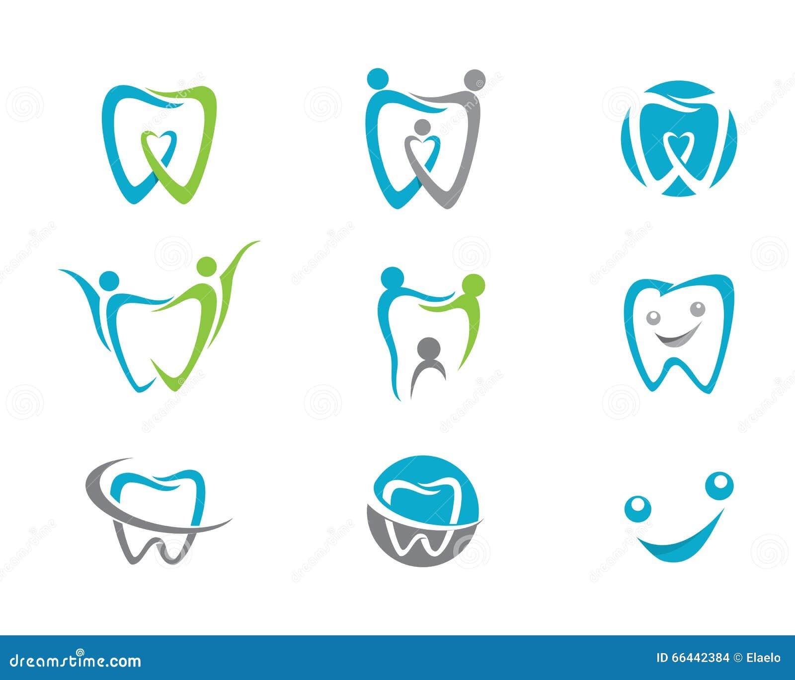 Dental Logo Template Stock Vector. Illustration Of Family