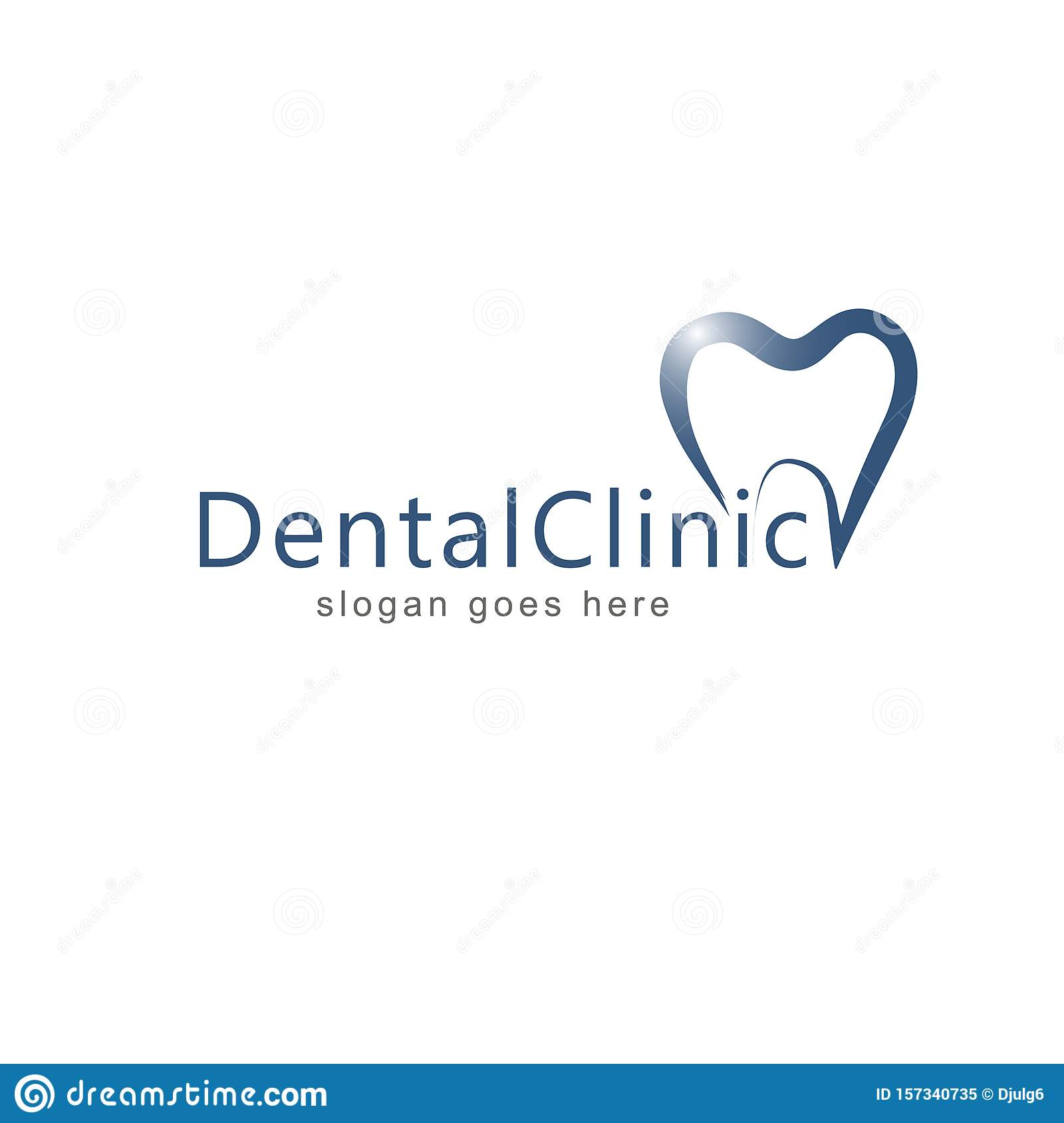 Dental Logo Template Vector Illustration Icon Design Vector Stock Illustration Illustration Of Doctor Paste 157340735