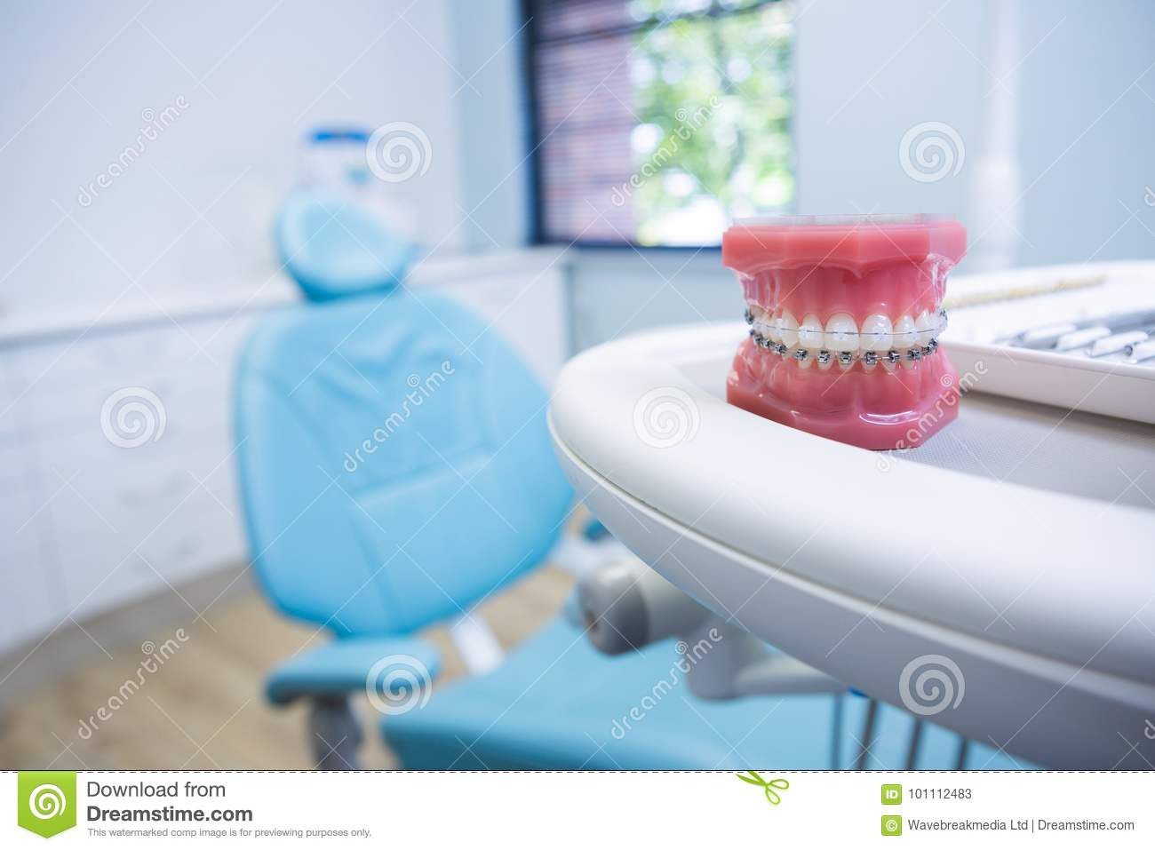 Dental Mold On Table By Chair Stock Image - Image of tool, chair ...