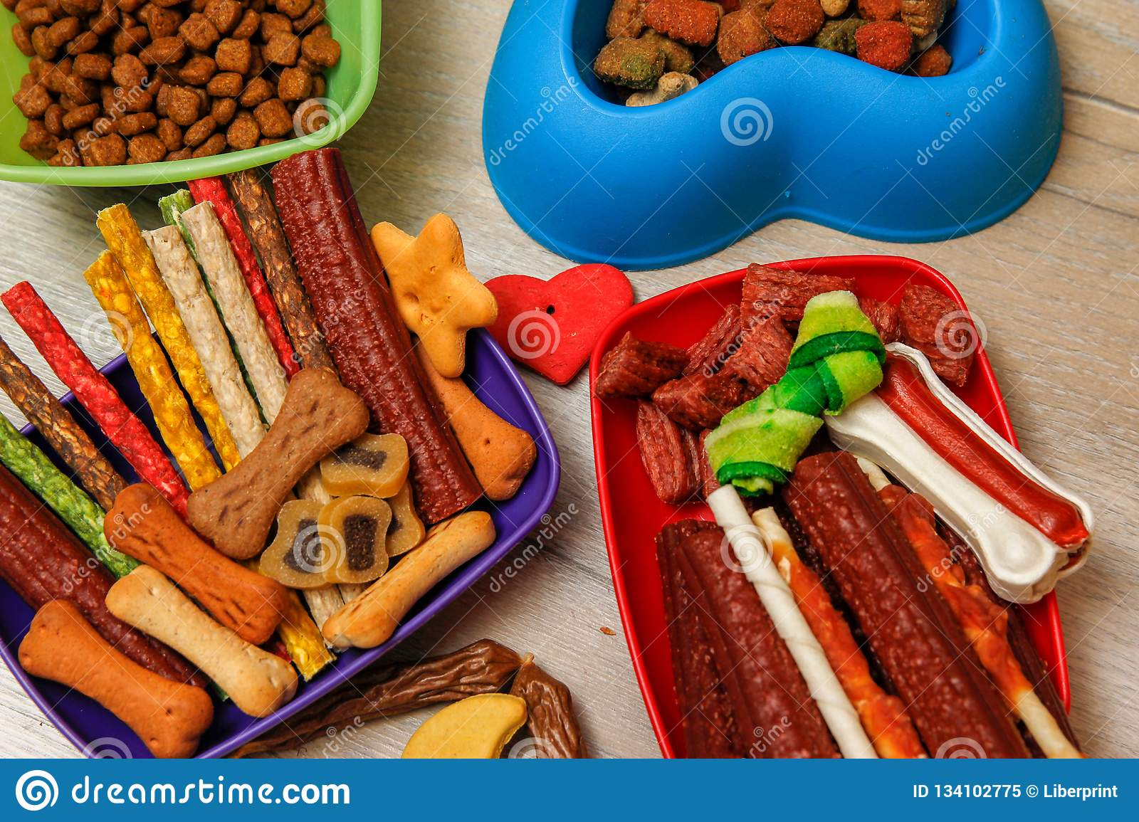 Delicious For Dogs Or Dog`s Snacks Stock Image - Image of