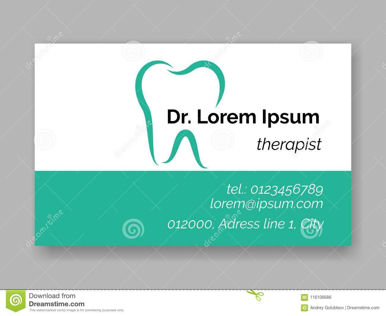 Dental tooth logo icon for dentist business card. Vector stomatology dental care design template of tooth symbol for dentistry cli