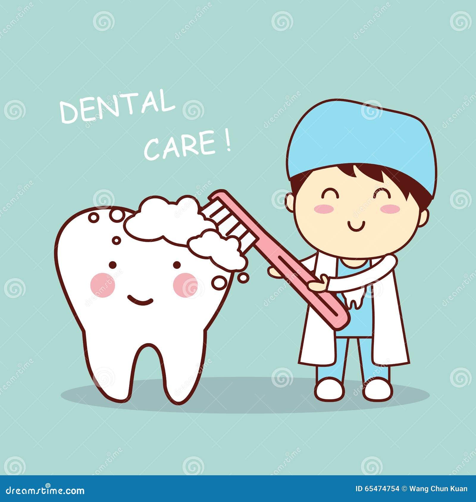 bf882078c Dente Bonito Da Escova Do Dentista Dos Desenhos Animados Ilustração ...