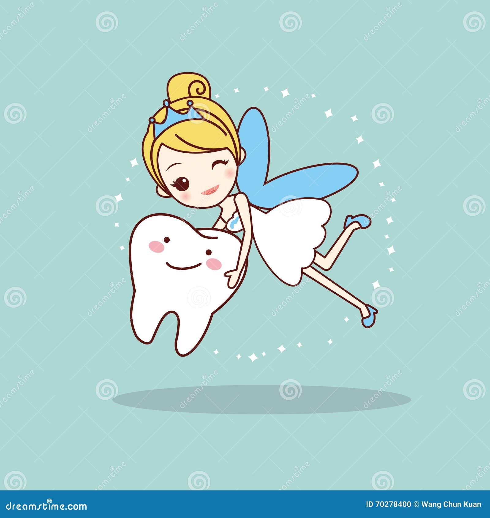 Dente del fumetto con il fatato di dente
