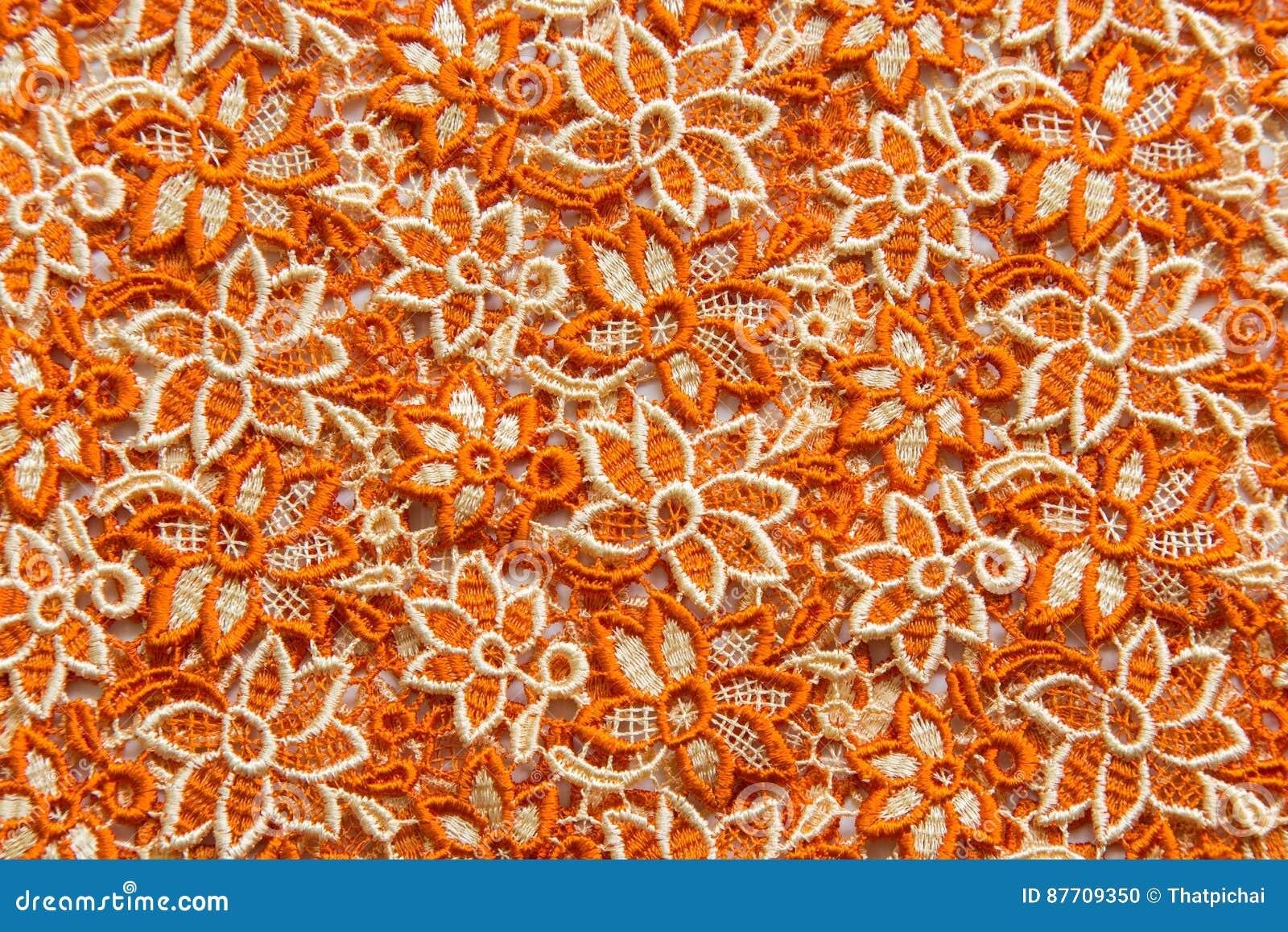 Dentelle orange sur le fond blanc Aucune n importe quelle marque déposée ou ne limitent la matière en cette photo