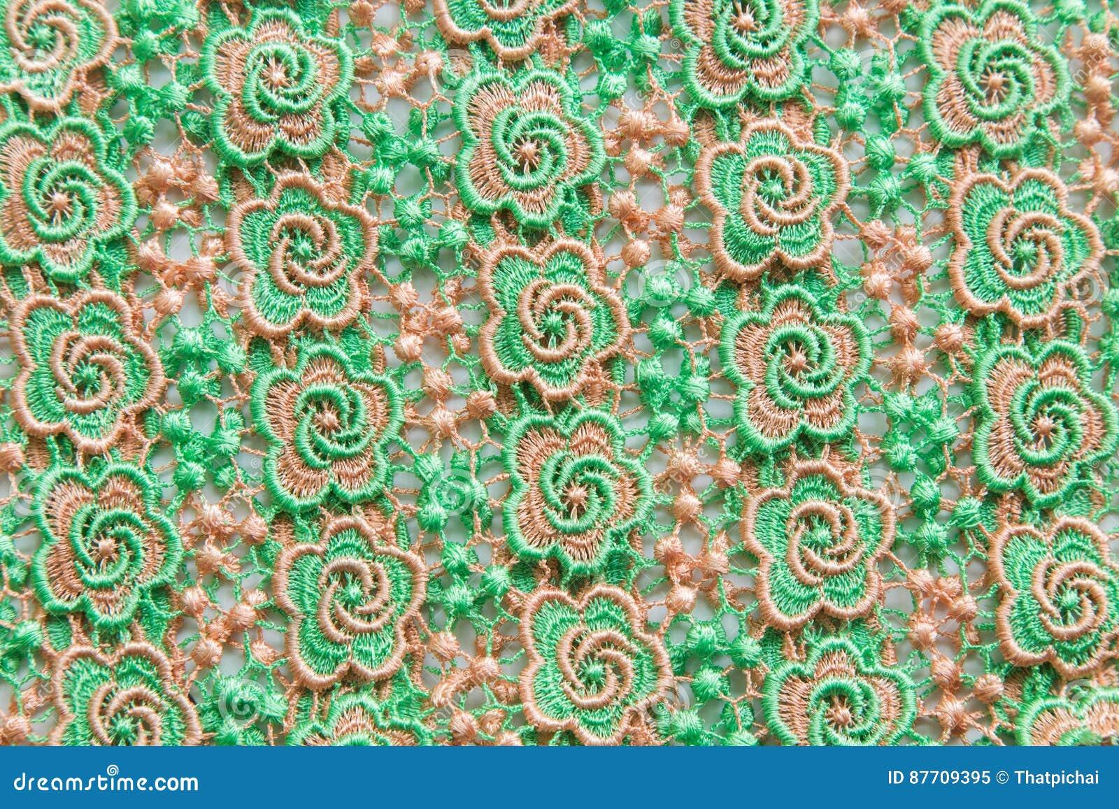 Dentelle verte sur le fond blanc Aucune n importe quelle marque déposée ou ne limitent la matière en cette photo