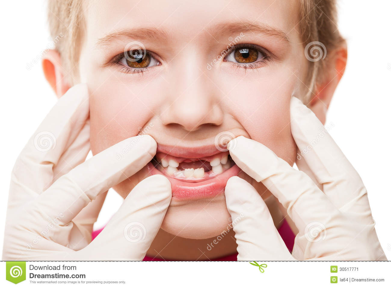 Dentist Examining Child Teeth Stock Image Image 30517771