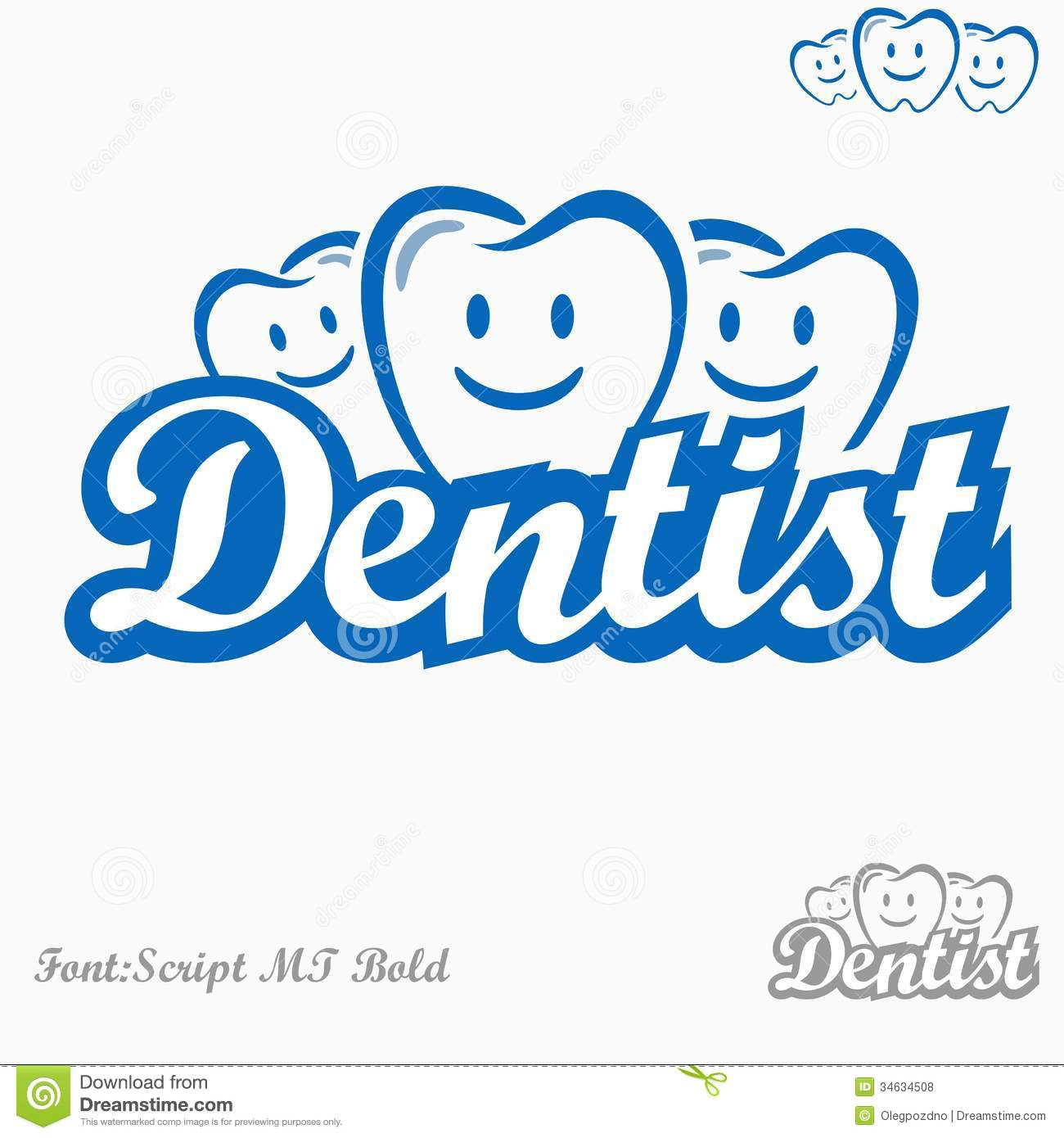 Dentist Logo Royalty Free Stock Photos - Image: 34634508