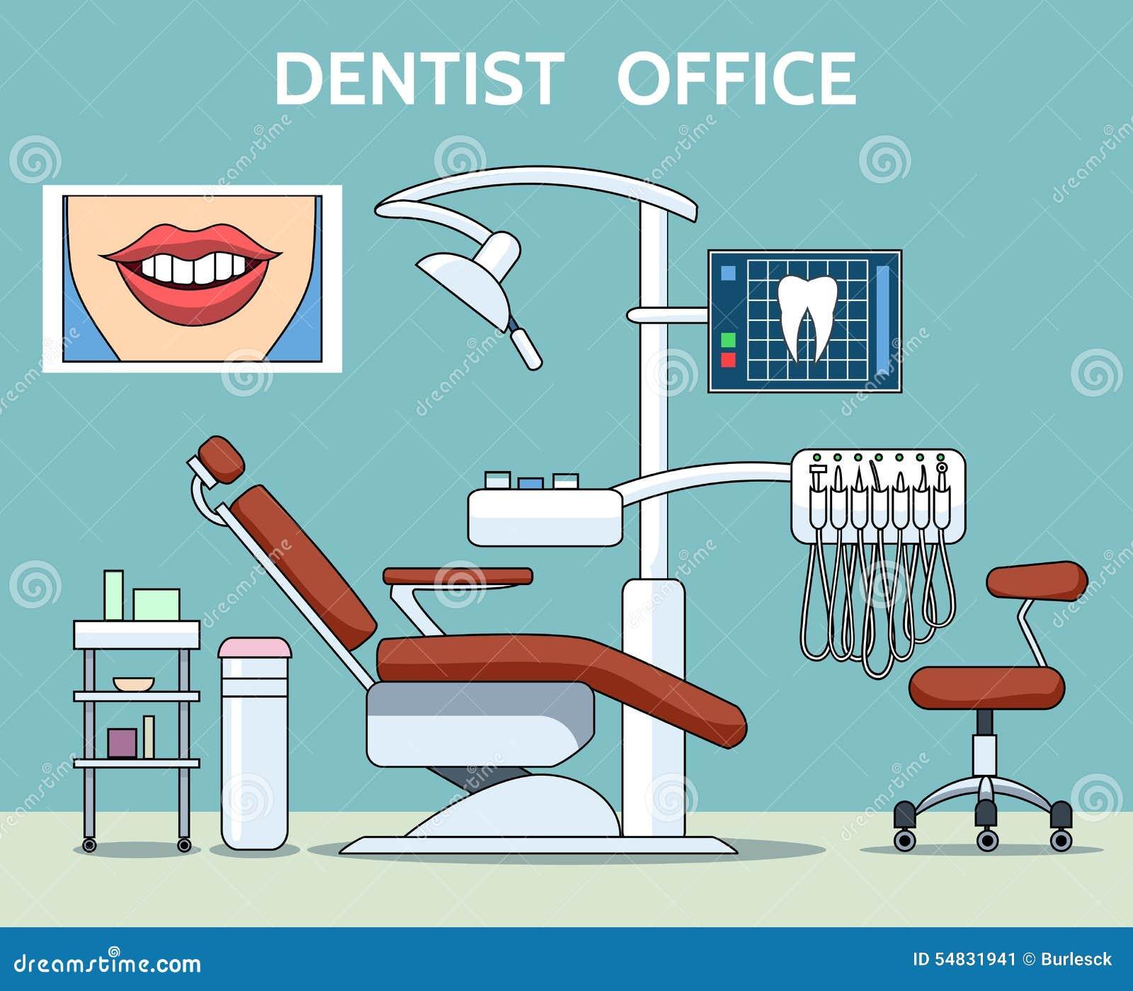 Dentist Office Stock Vector Image 54831941