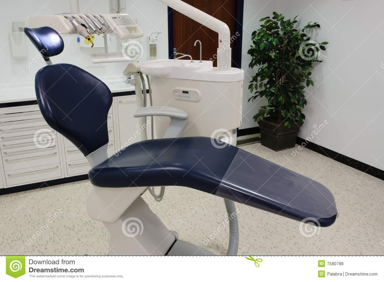 Dentist Office Wiht Blue Chair Royalty Free Stock Photos ...