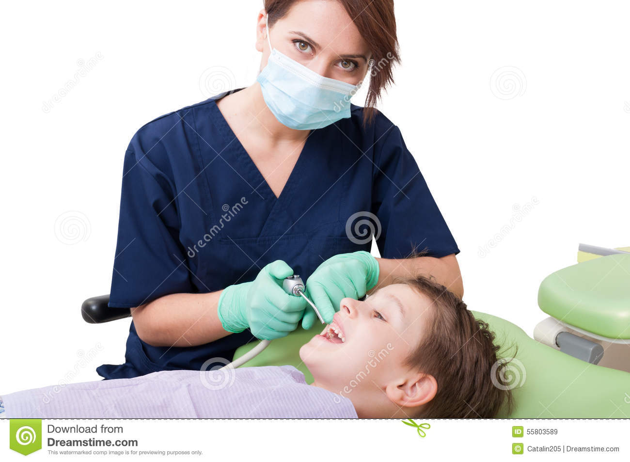 Dentist Woman With Kid Patient Concept Stock Photo Image