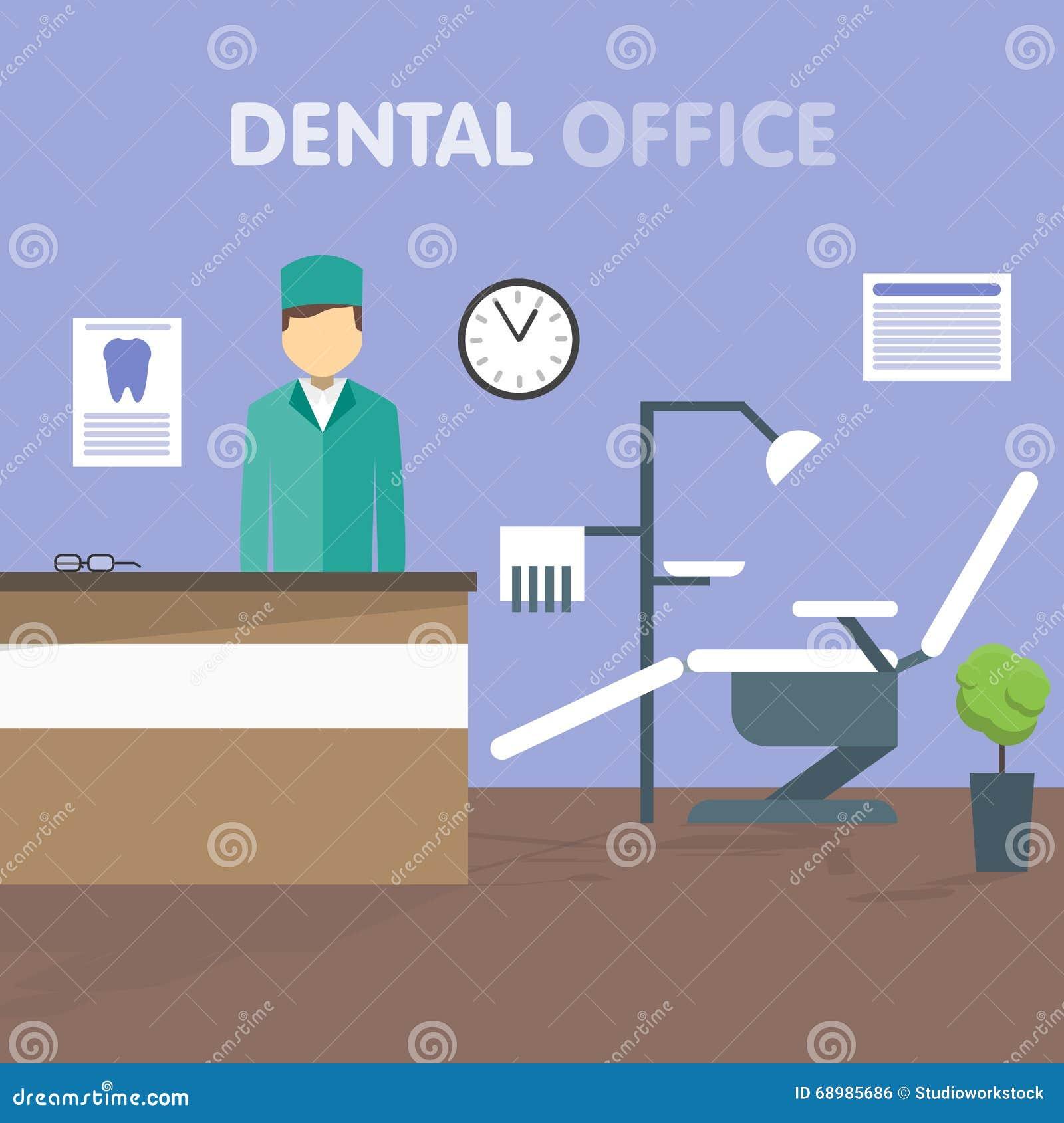 Dentista del lugar de trabajo, ejemplo del vector