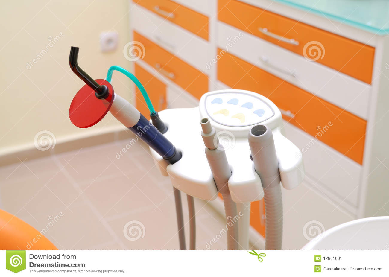 Dentists instrument on clinic