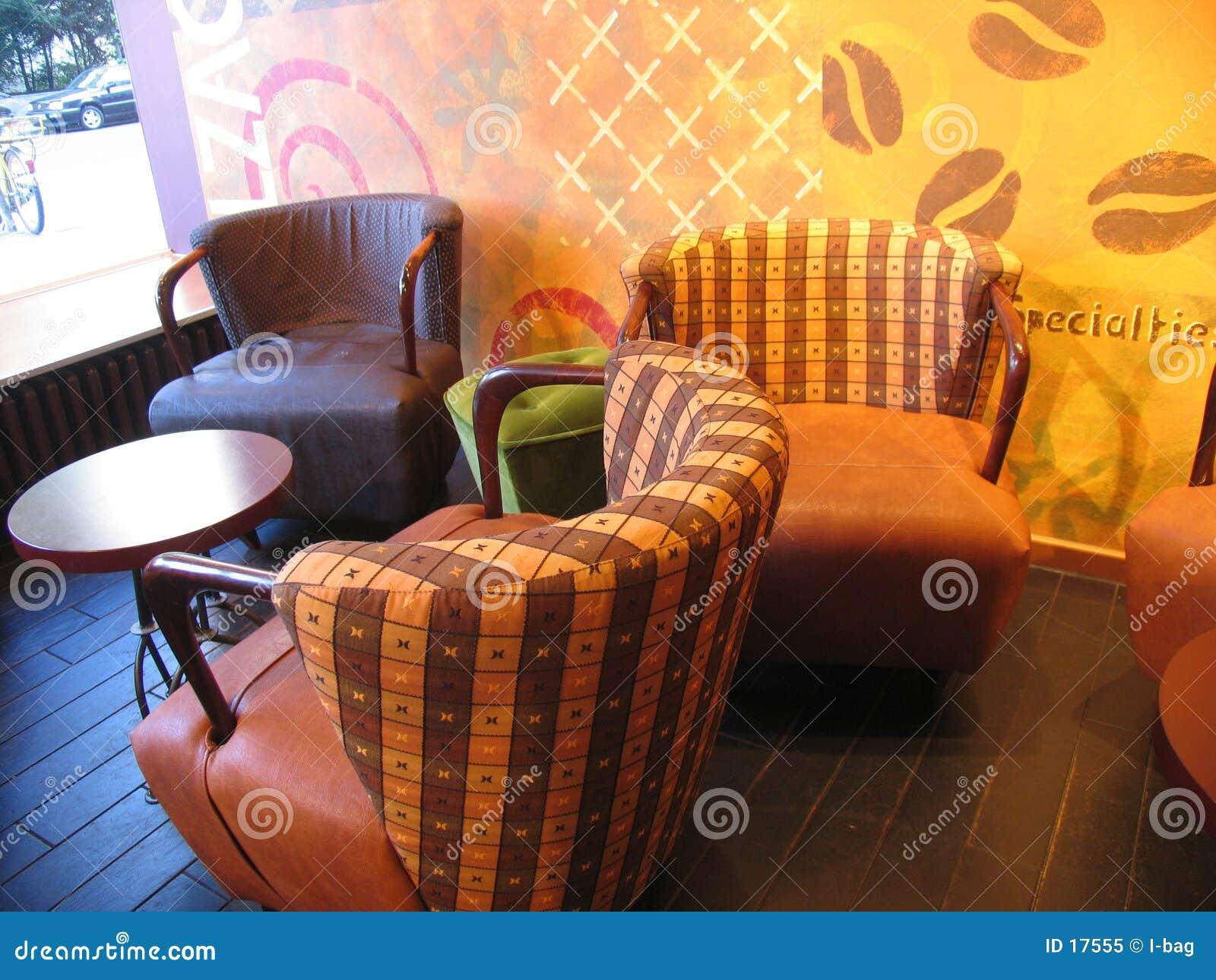Dentro de la cafetería
