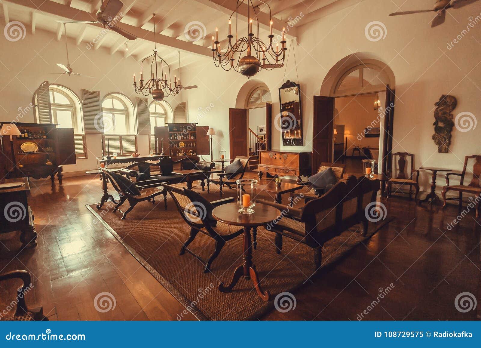 Dentro Del Hotel Selecto Hist Rico De Cinco Estrellas Con Muebles