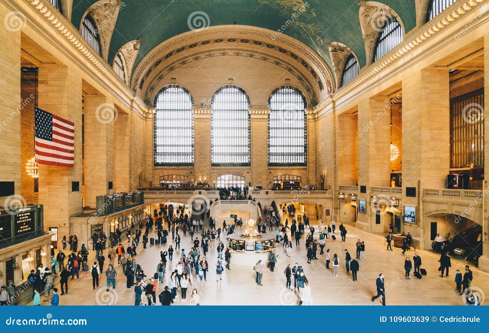 Dentro del terminal de Grand Central en Manhattan, New York City