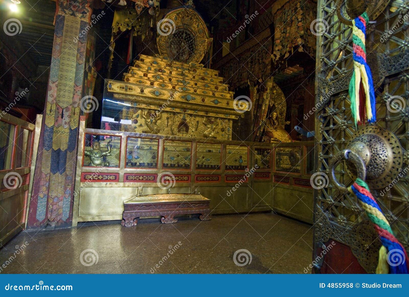 Dentro do palácio de Potala