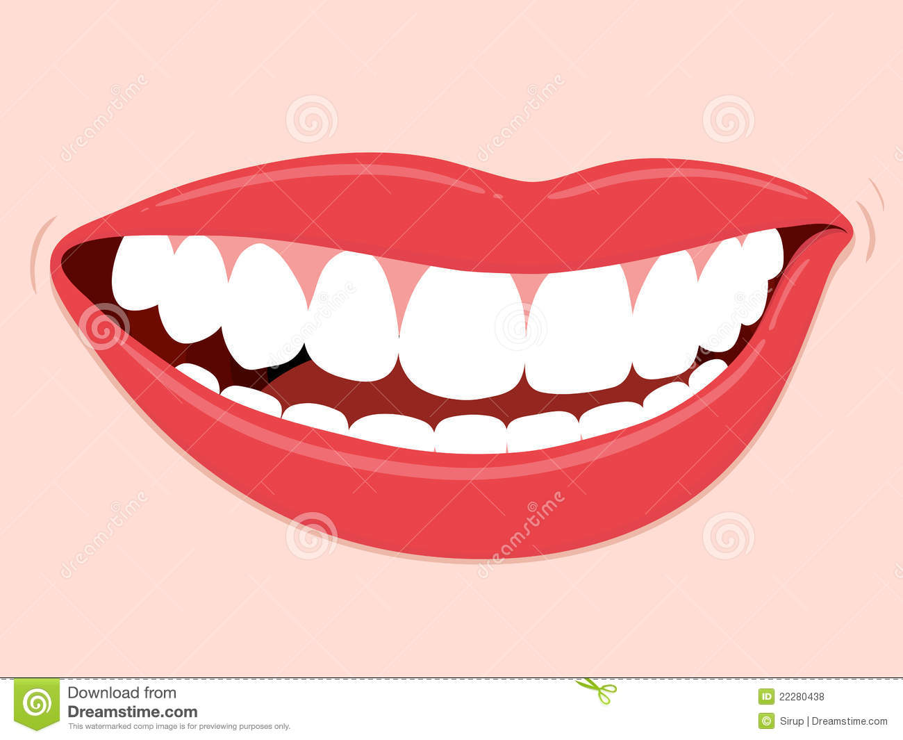Dents saines de sourire de bouche illustration de vecteur - Bouche en dessin ...
