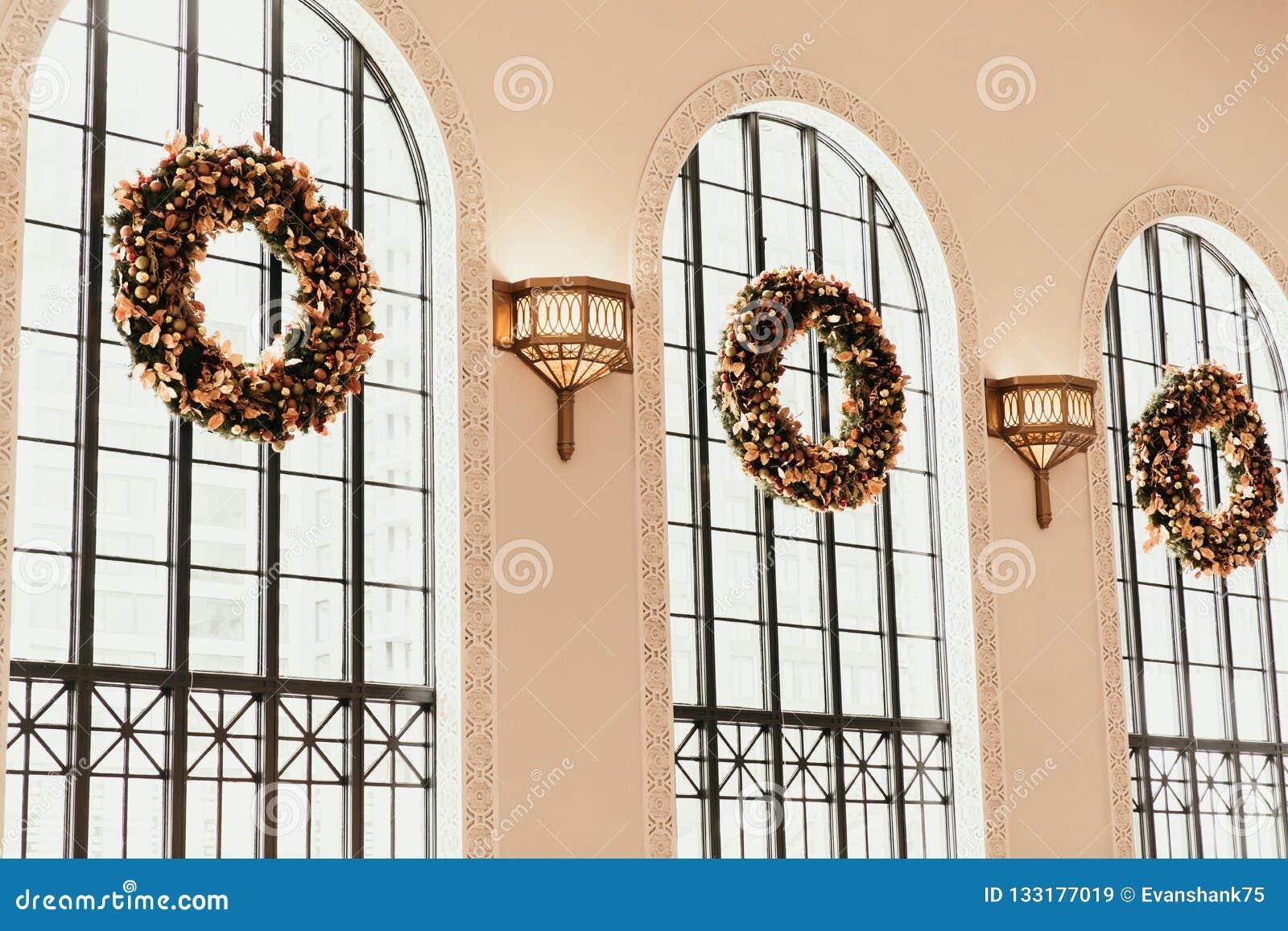 Denver, CO/U.S.A.: Colpi editoriali della stazione ferroviaria del sindacato durante le ferie di Natale