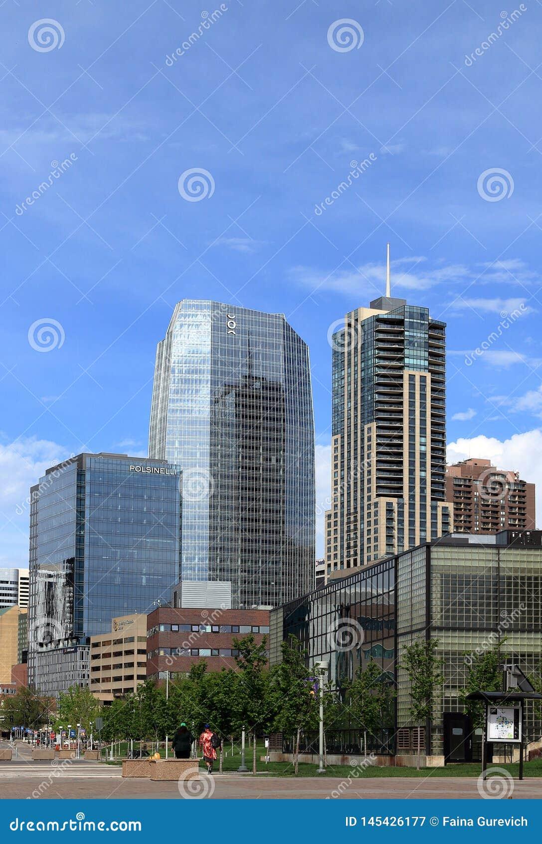 Downtown Denver, Colorado, cityscape on a sunny day