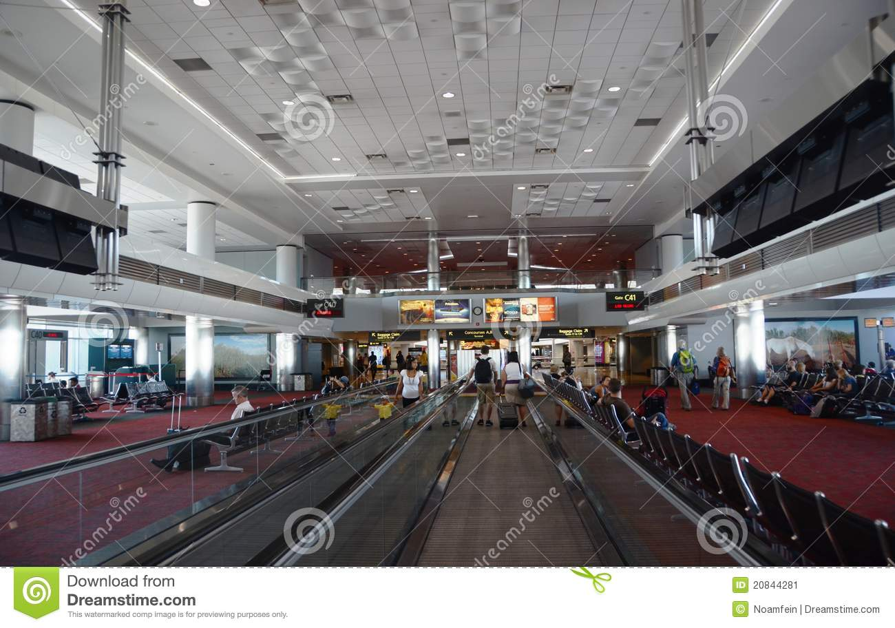 Denver International Airport Interior Editorial Photo