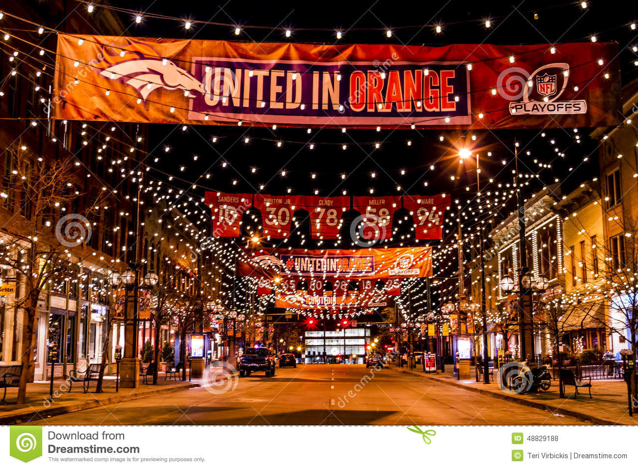 Denver Larimer Square NFL United In Orange Editorial Stock ...