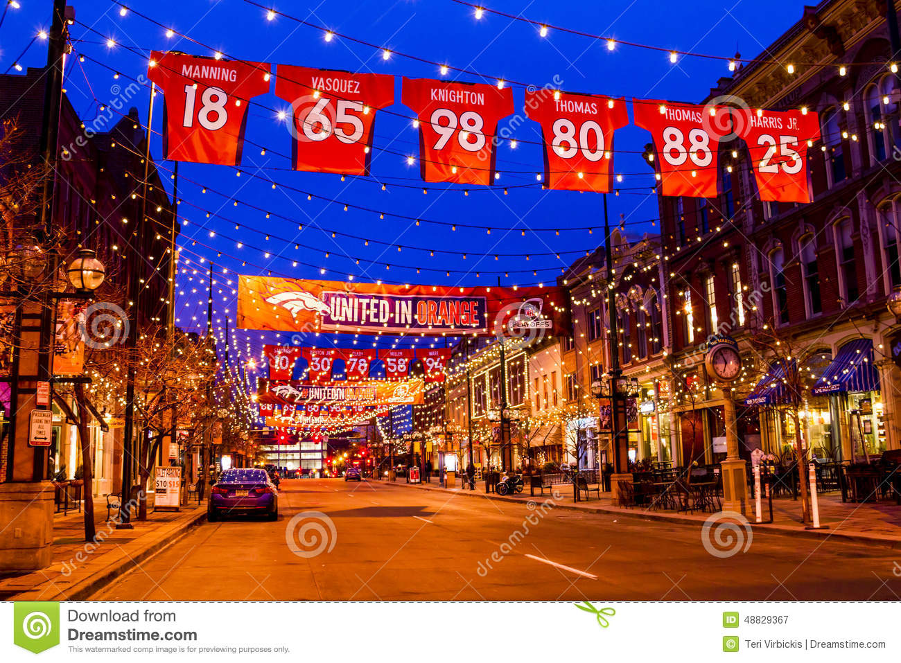 Denver Larimer Square NFL United In Orange Editorial ...
