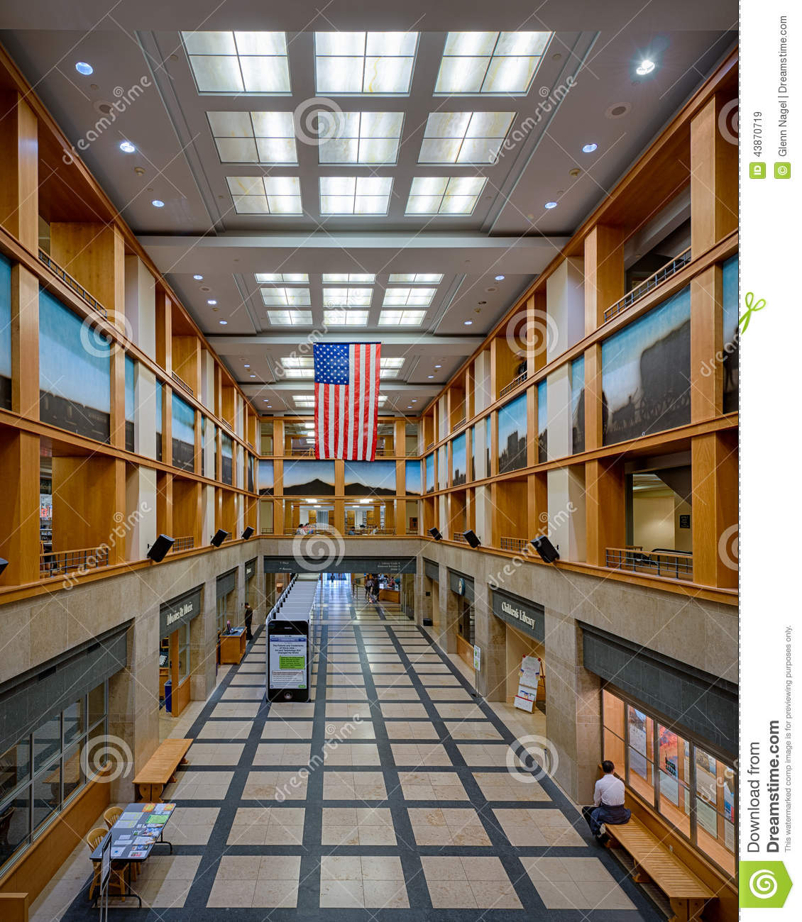 Denver Public Library Editorial Stock Image. Image Of