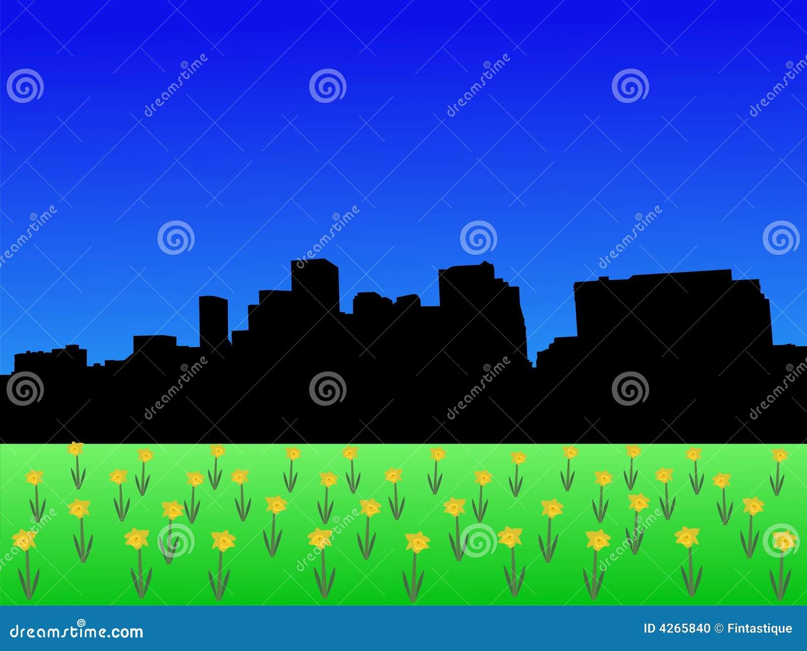 Denver skyline wiosna