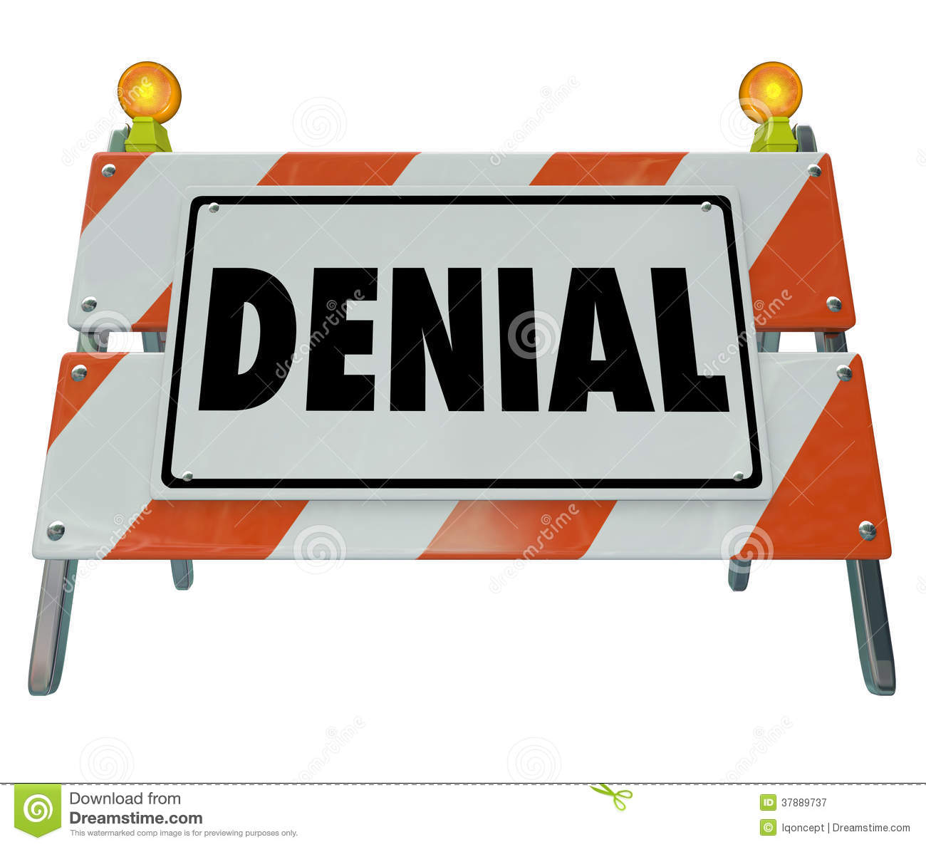 Deny Barricade Sign Rejection Answer daalde Verboden Toegang