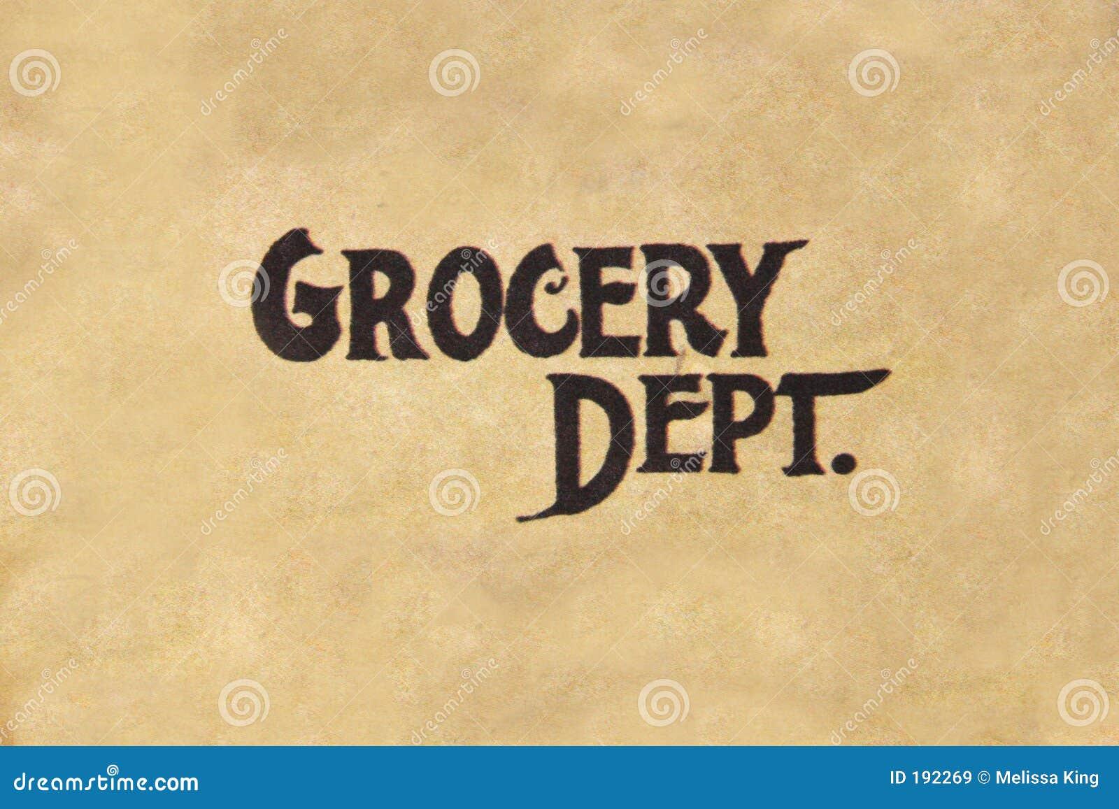 Departamento de la tienda de comestibles.