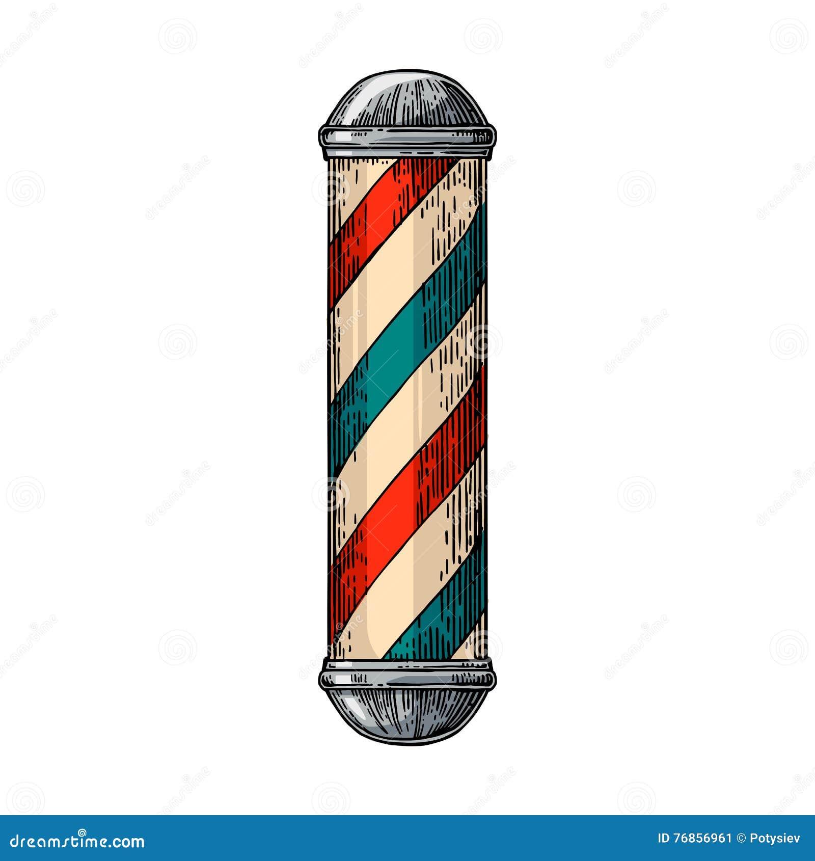 Departamento de peluquero clásico poste