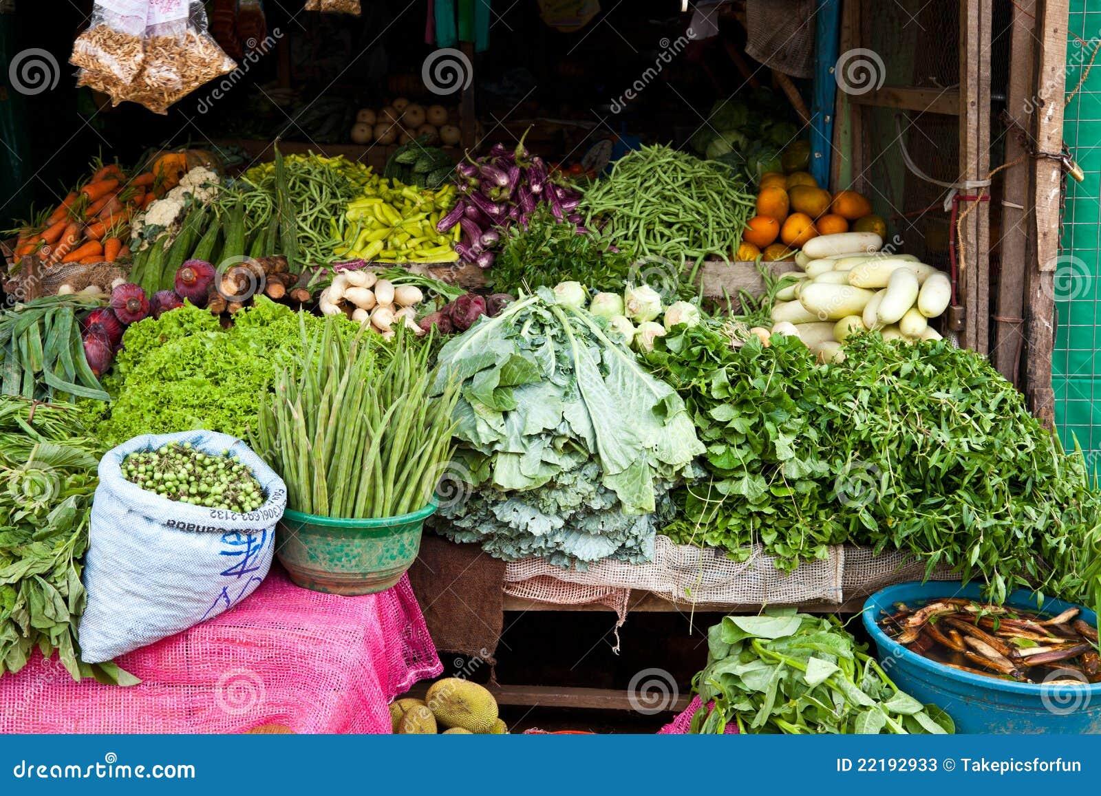 Departamento vegetal en Sri Lanka