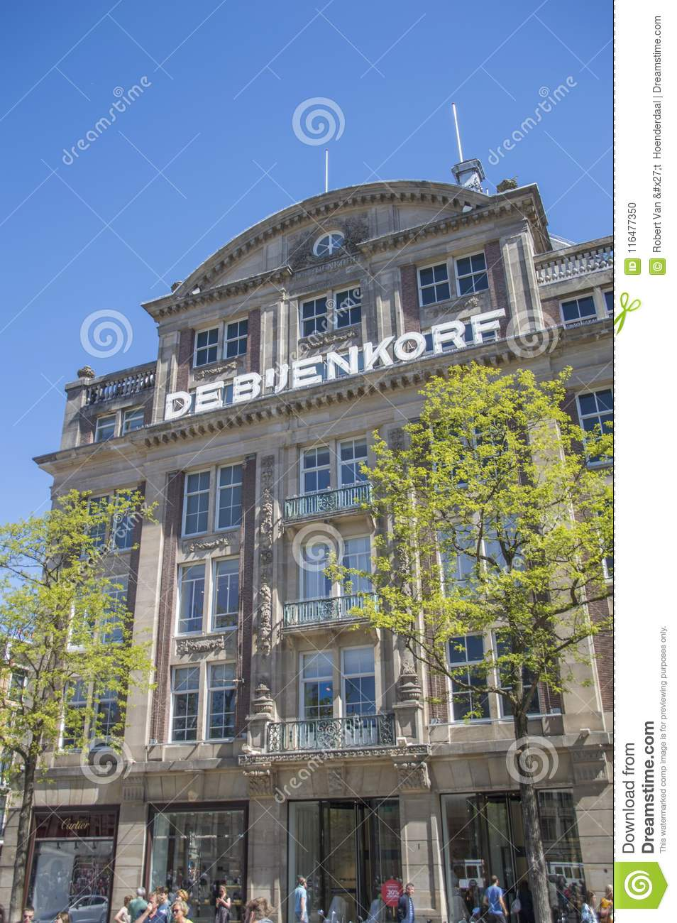 Department Store The Bijenkorf At Amsterdam The Netherlands