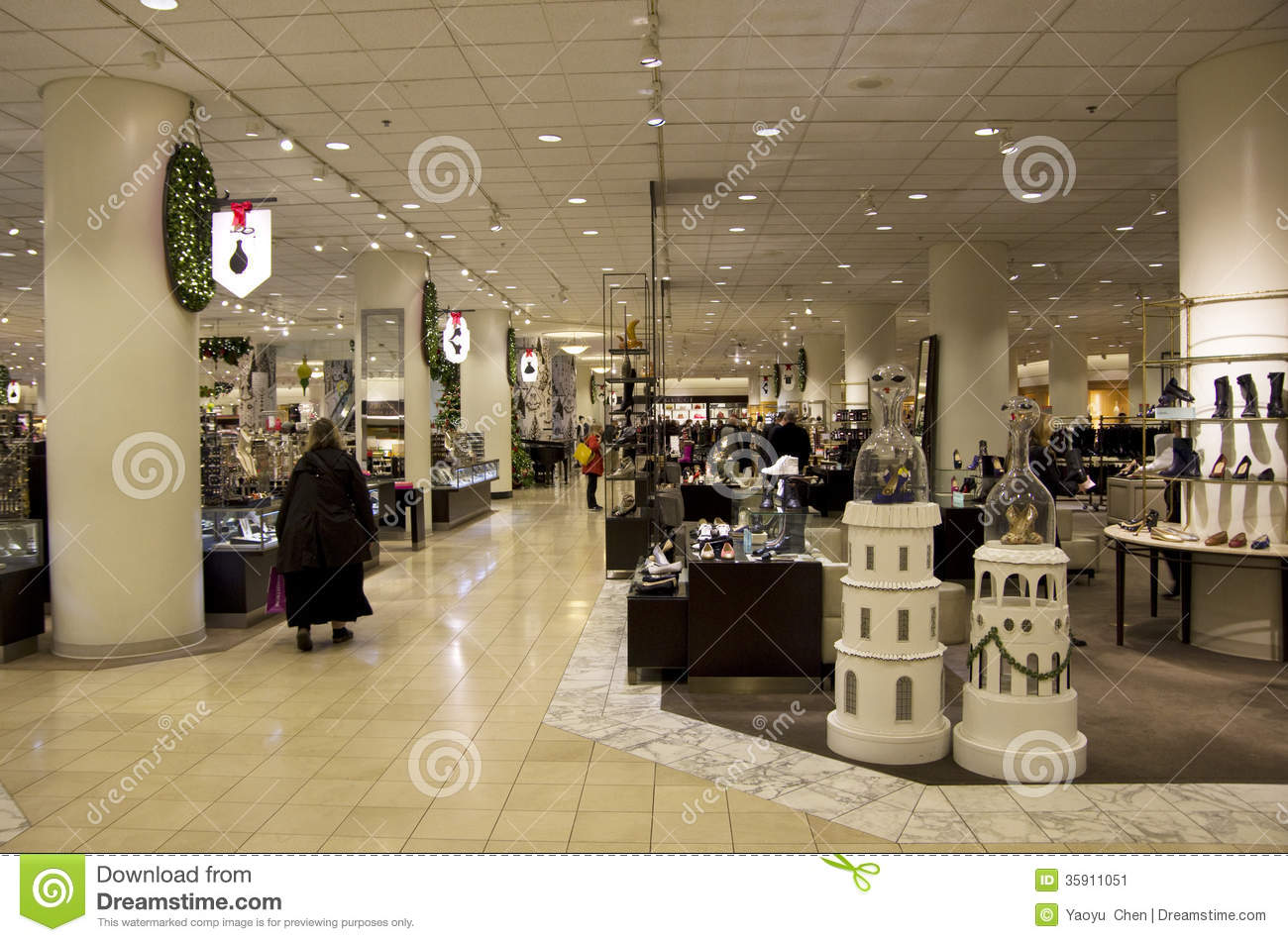 Department Store Mall Shopping Christmas Decoration Editorial Photo ...