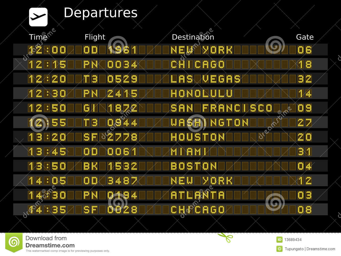 Departure Board Stock Images Image 13689434
