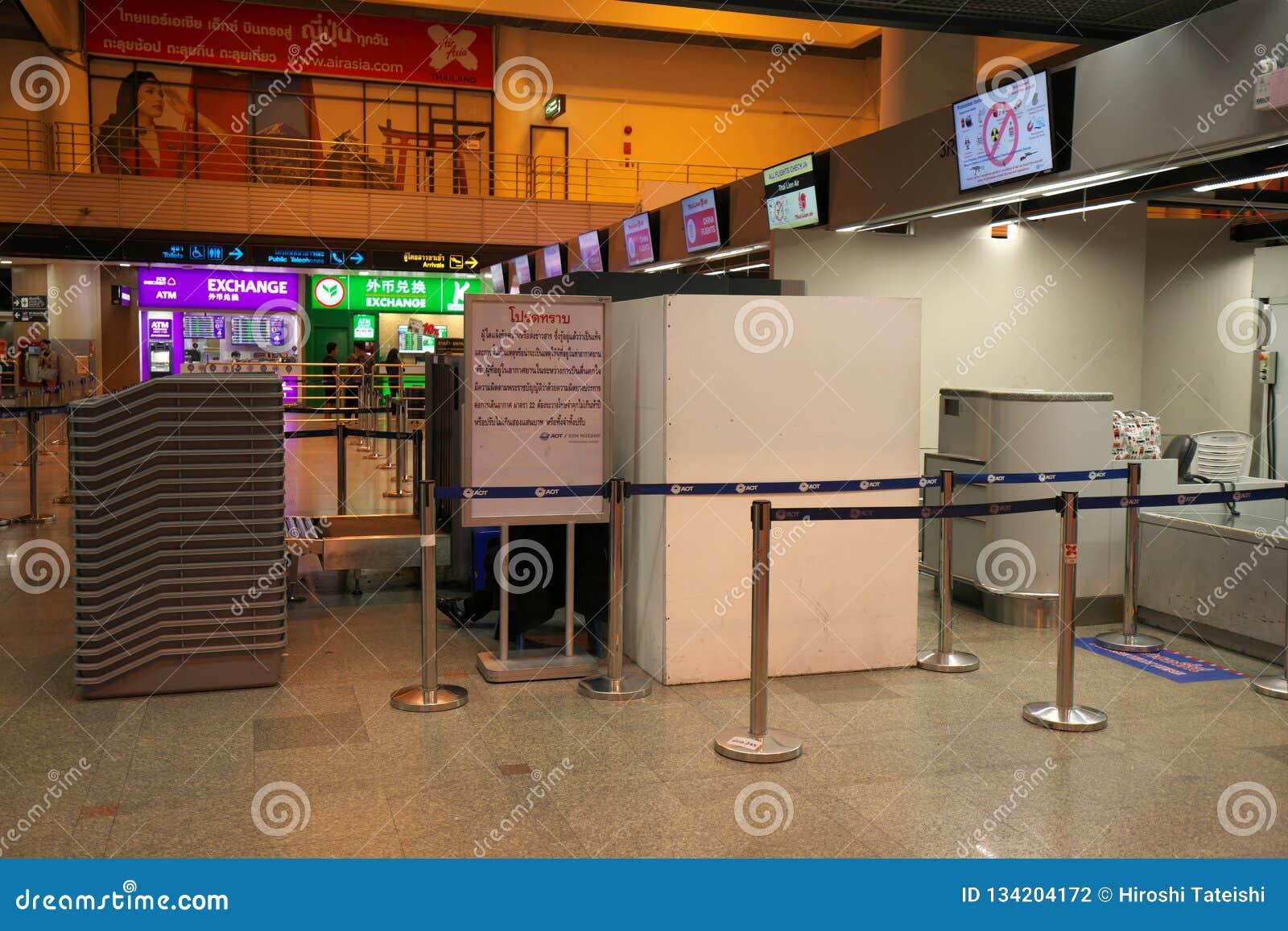 Departure Floor Of Don Mueang International Airport, Bangkok