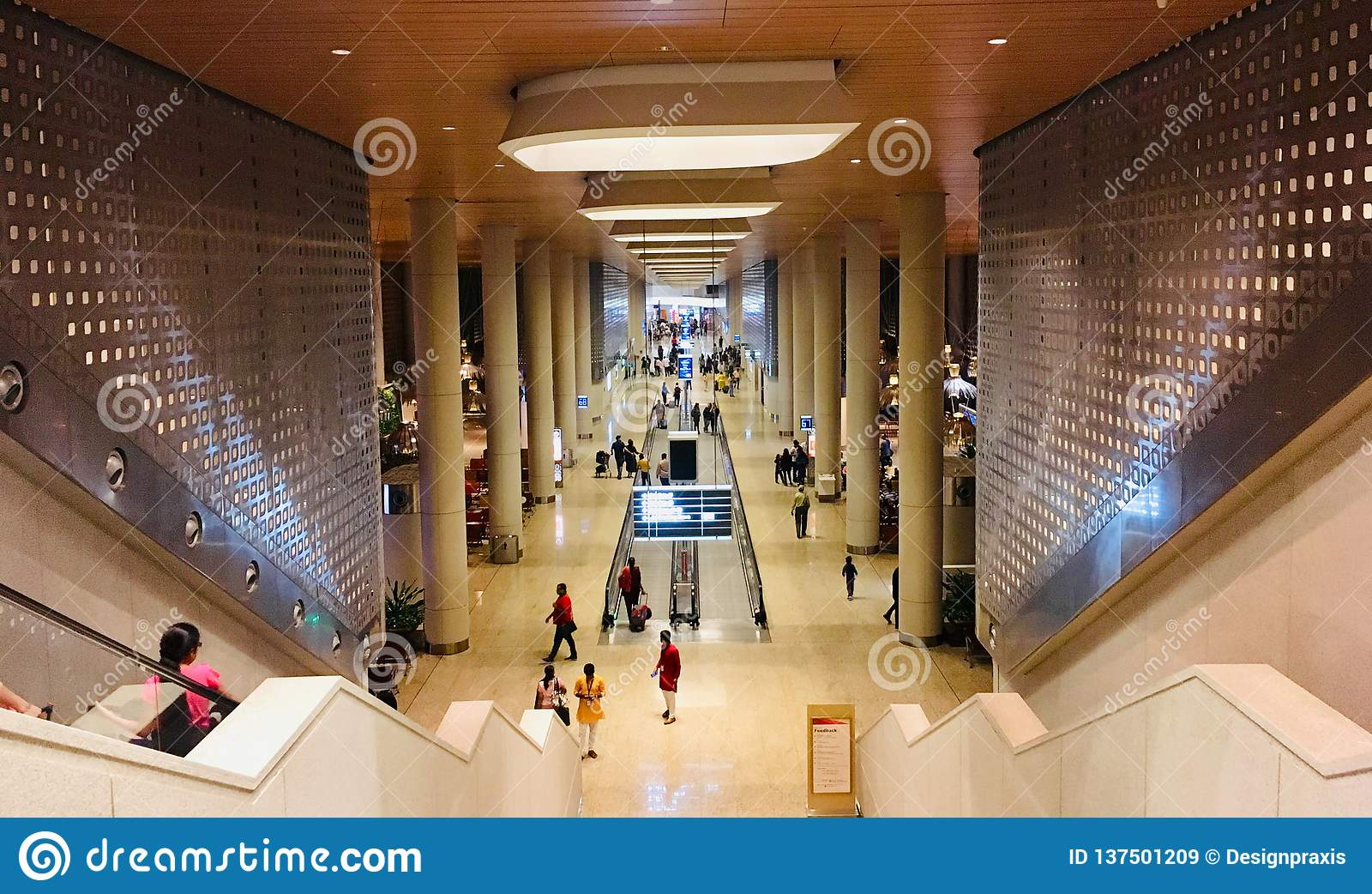 Departure Hall Of Chhatrapati Shivaji Maharaj International