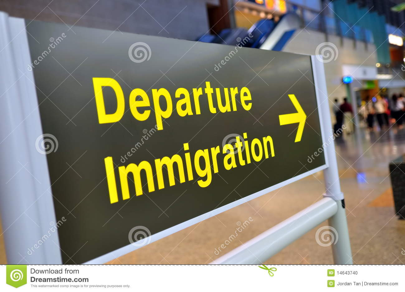 Departure immigration