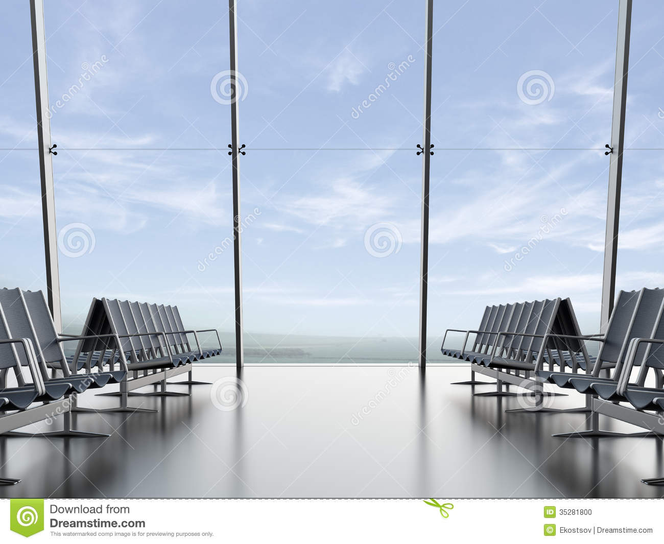 Departure Lounge At The Airport Stock Photo Image 35281800