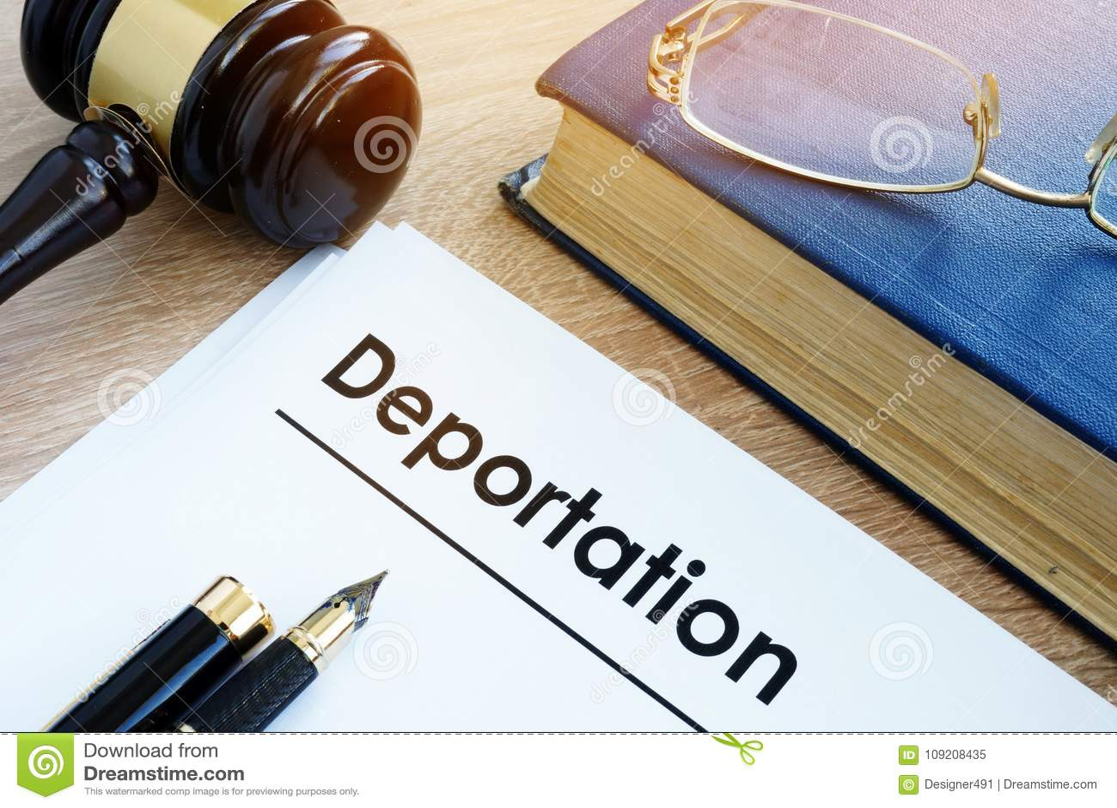 Deportacja i inny dokumenty Imigracyjny prawo