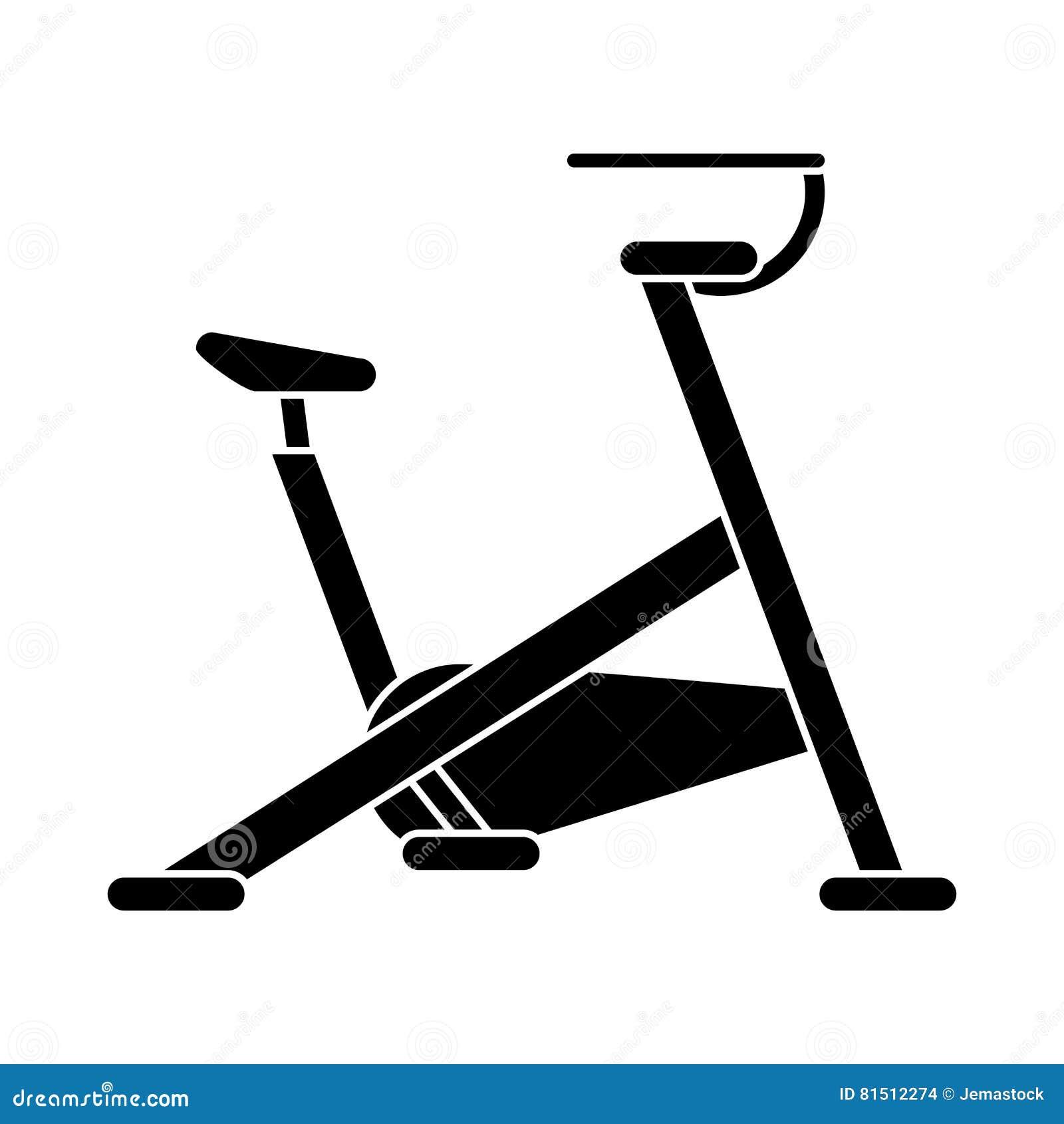 Deporte inmóvil del gimnasio de la máquina de la bicicleta de la silueta