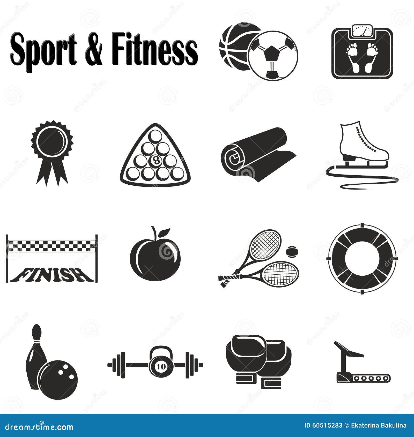 Deporte y aptitud de los iconos