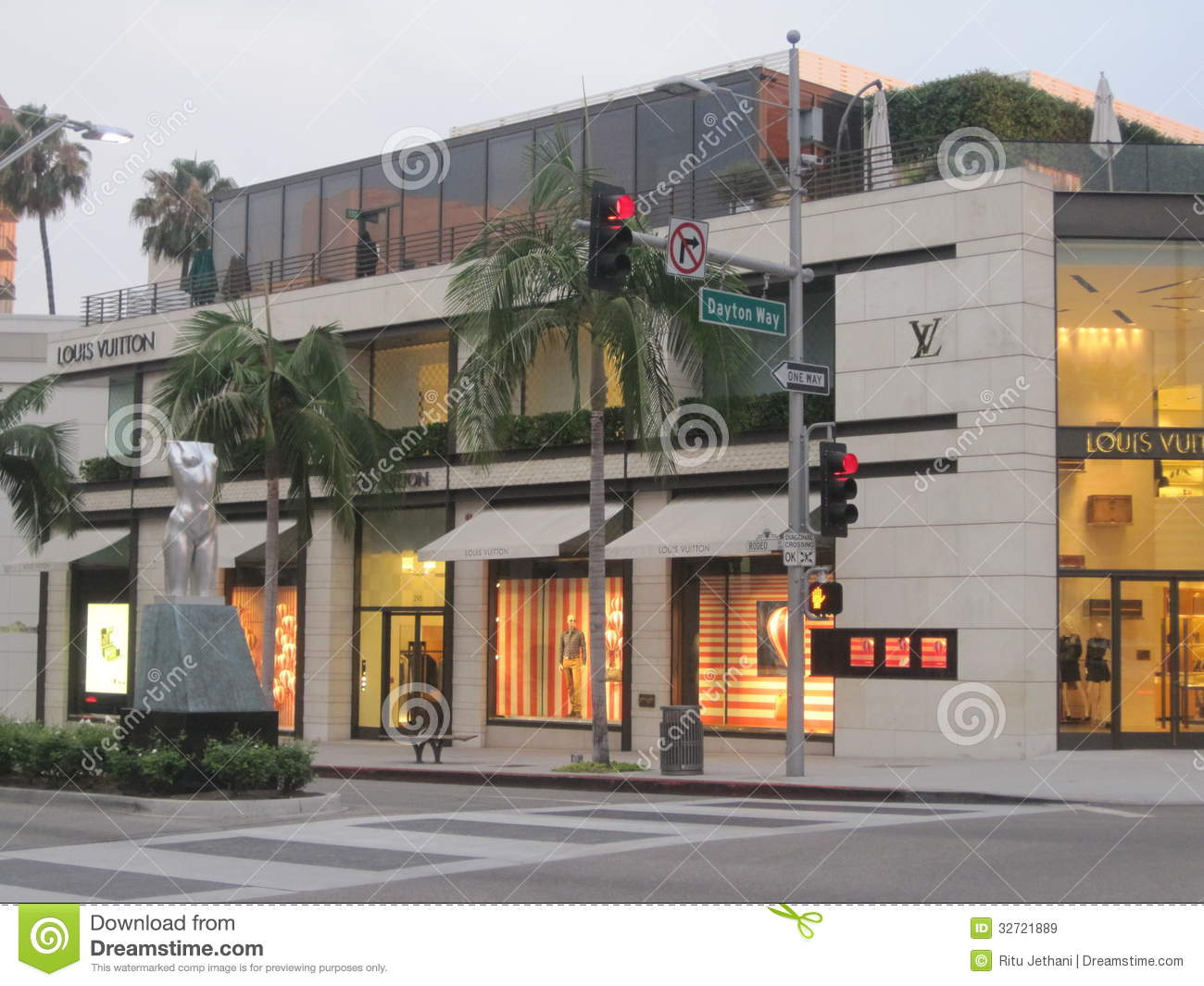 Deposito di Louis Vuitton a Rodeo Drive in Beverly Hills
