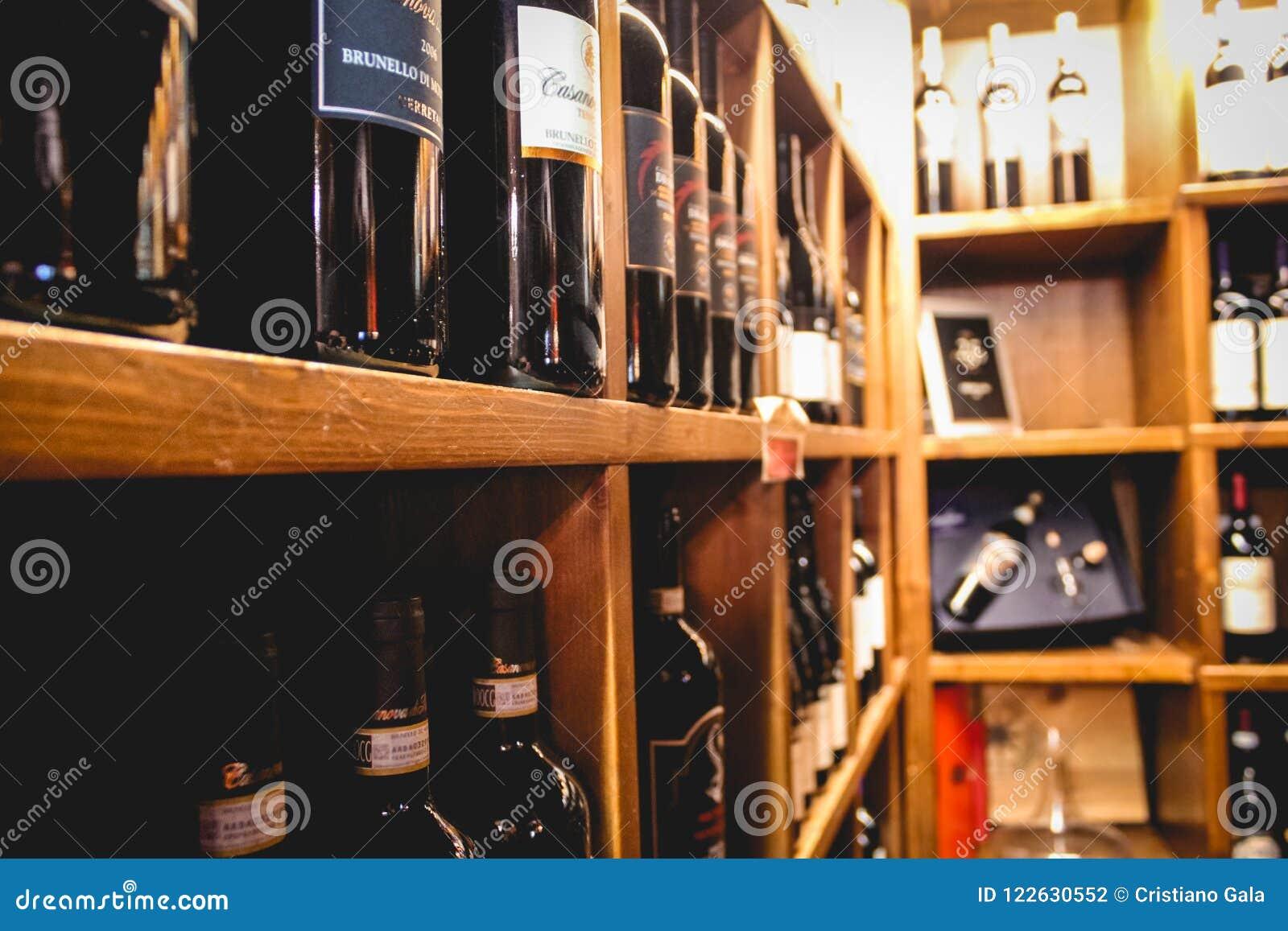 Deposito di vino italiano