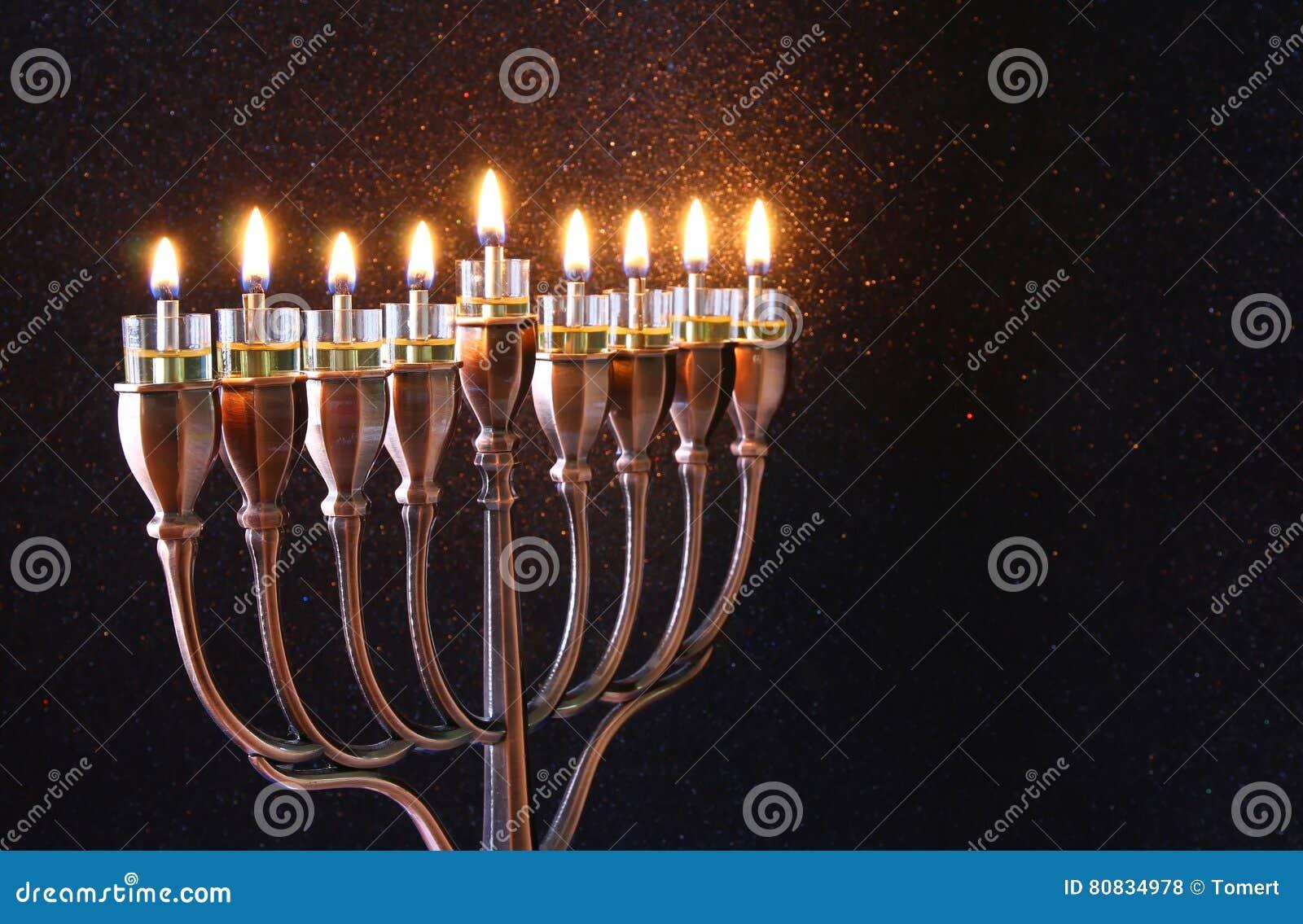 Depresja klucz żydowski wakacyjny Hanukkah tło
