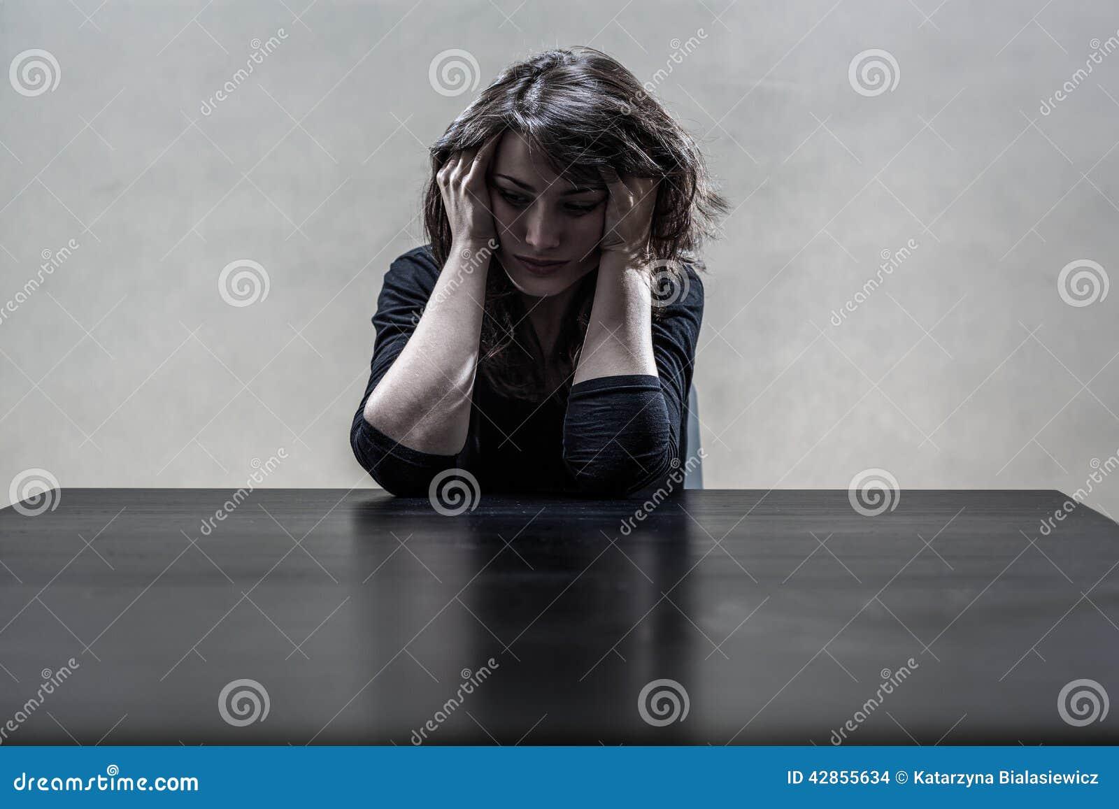 Depresji surowa cierpienia kobieta