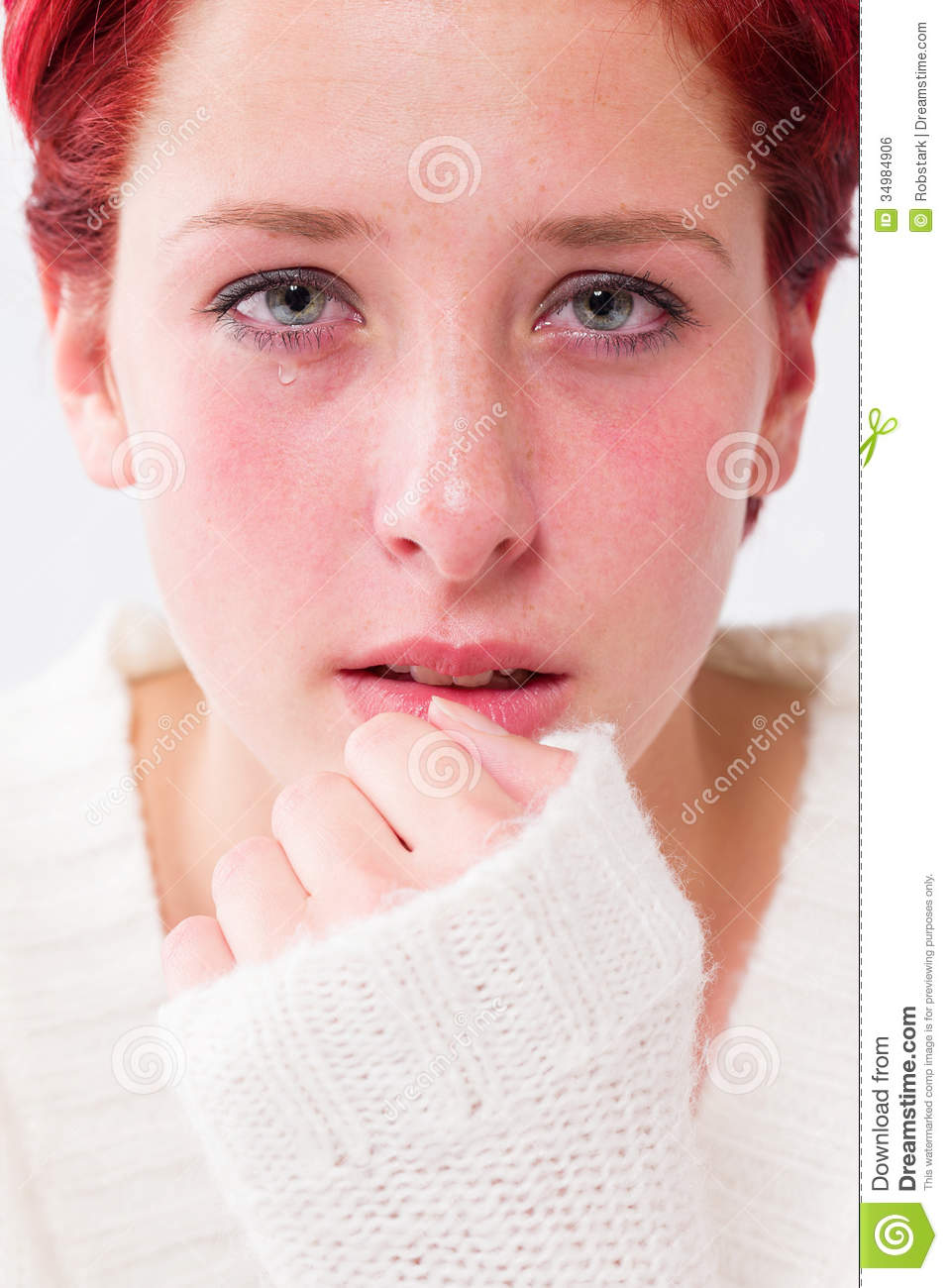 Depressed Woman Crying Depressed Crying Young...