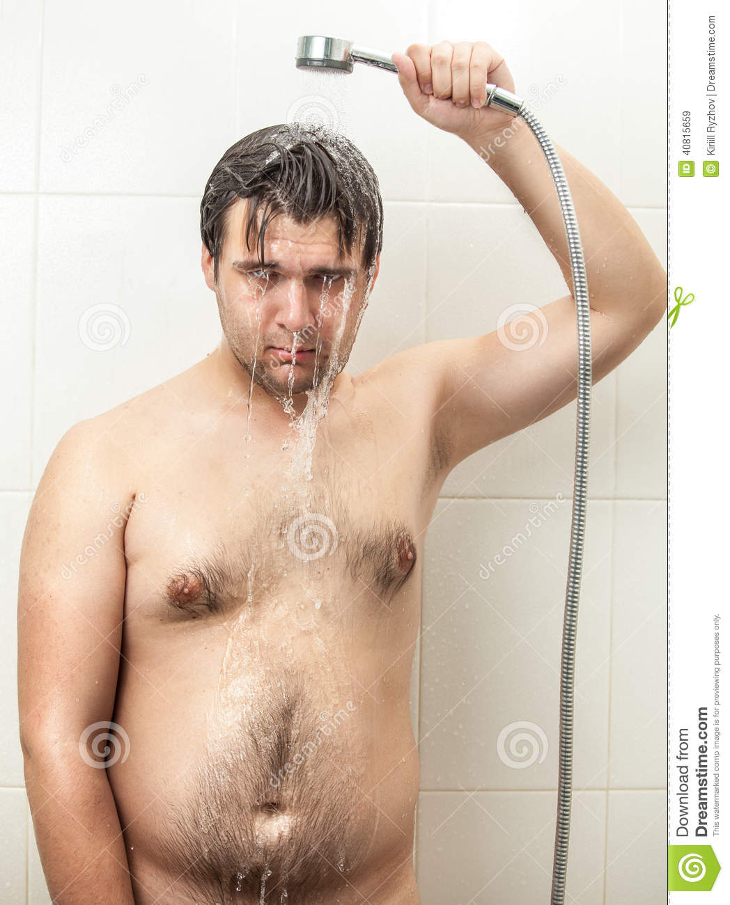 Shower hairy