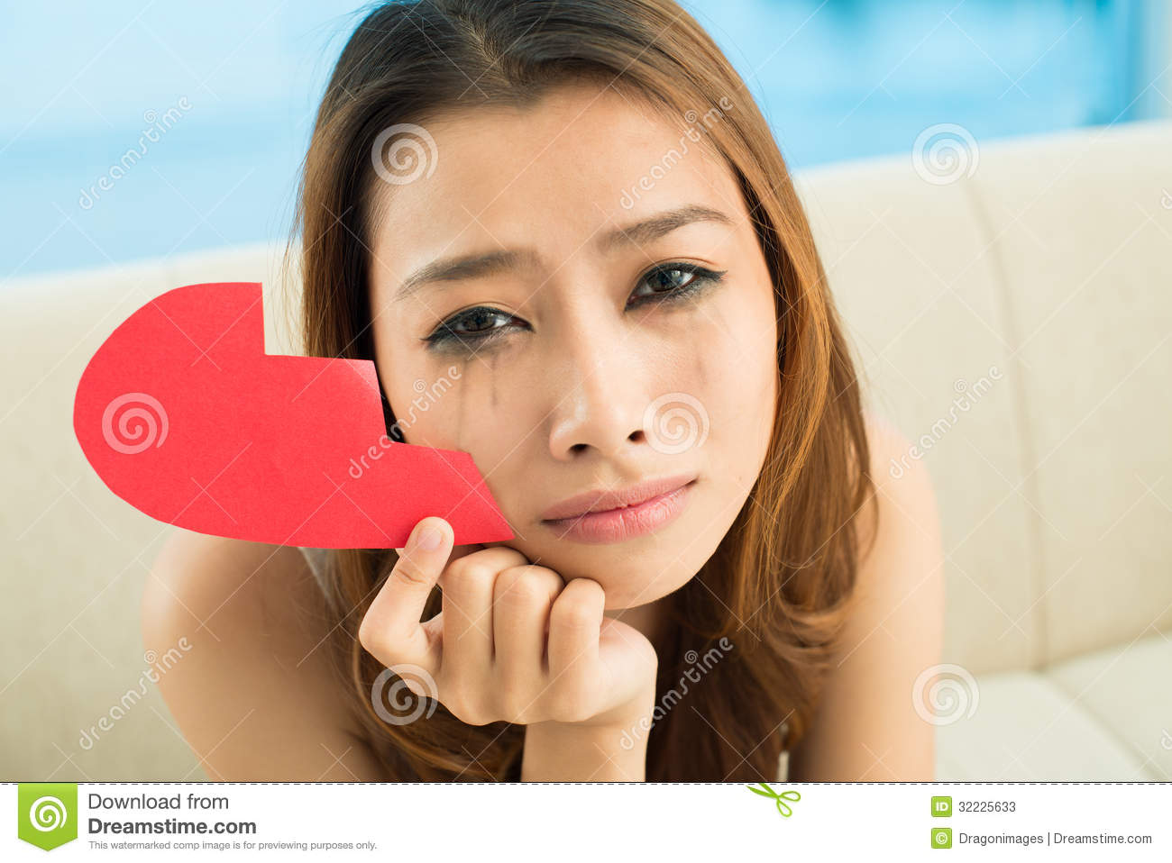 Depressed Girl Stock Image Image Of People Heart Girlfriend