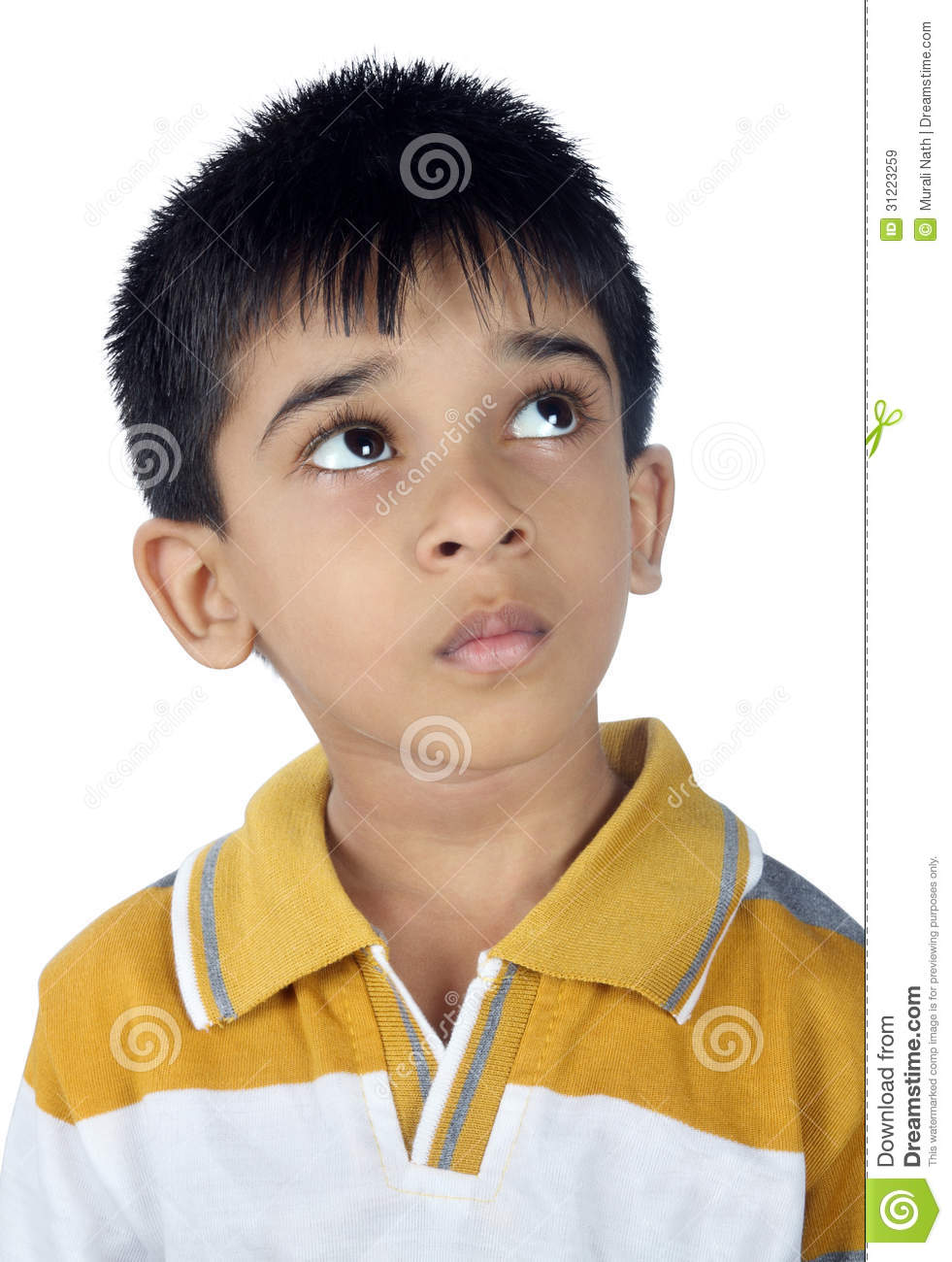 Depressed indian boy looking up royalty free stock images image
